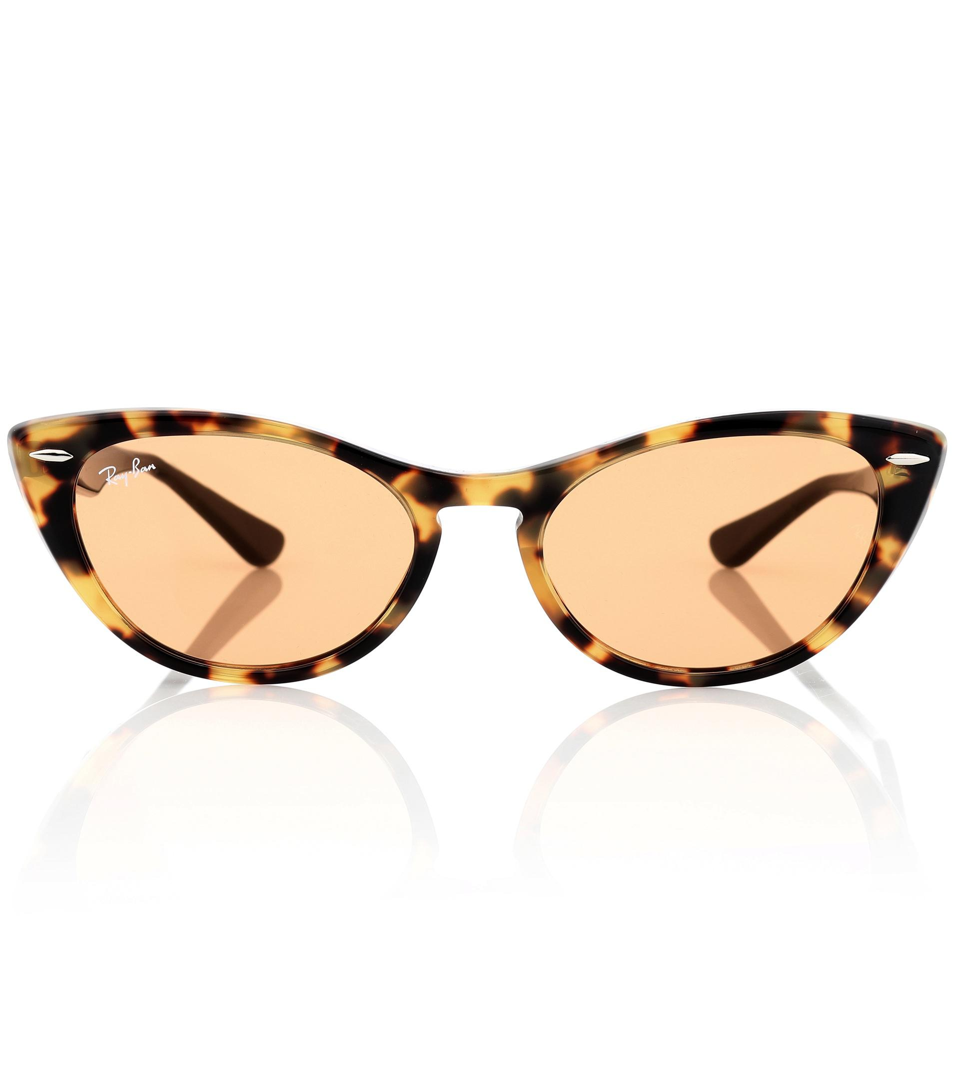 25750fb2e3d Lyst - Ray-Ban Nina X Cat-eye Acetate Sunglasses in Brown