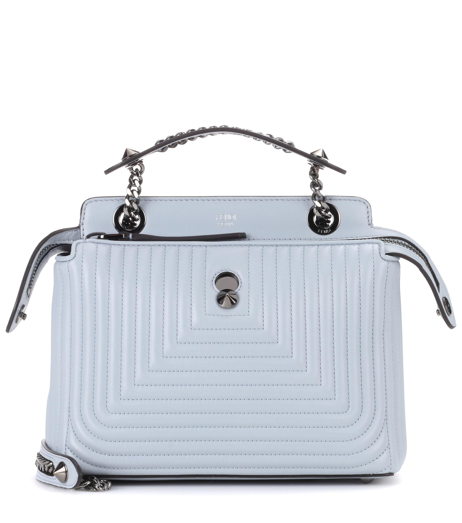2203b081dc38 Lyst - Fendi Dotcom Click Leather Shoulder Bag in Blue
