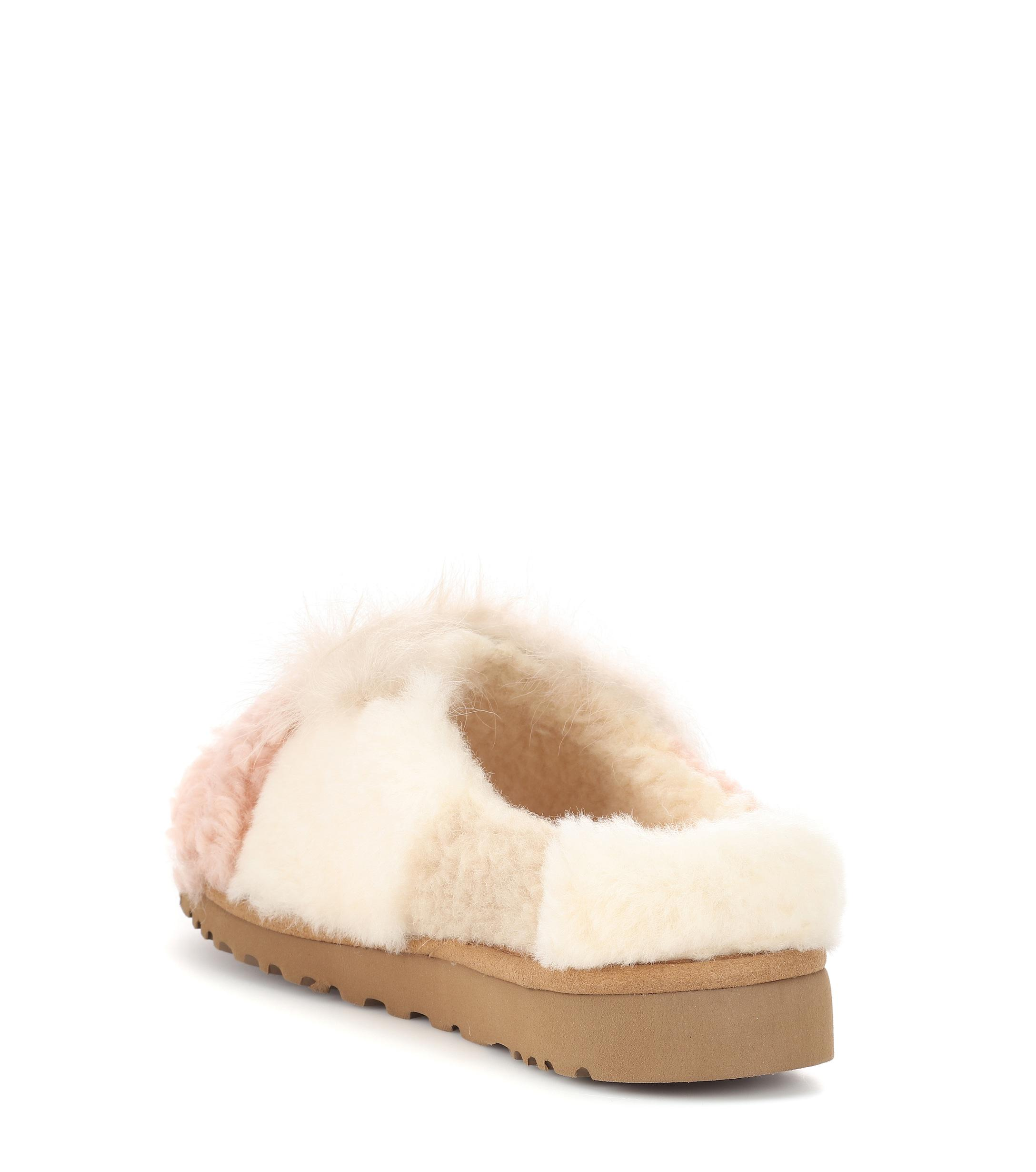 0d48713e865 Lyst - UGG Patchwork Fluff Shearling Slippers in Brown