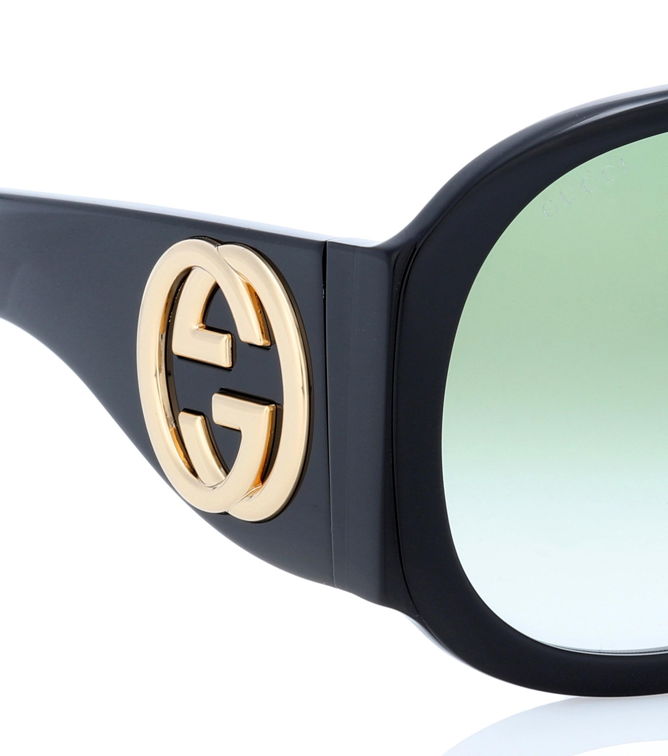 748341bea751 Gucci Oversized Sunglasses in Black - Lyst