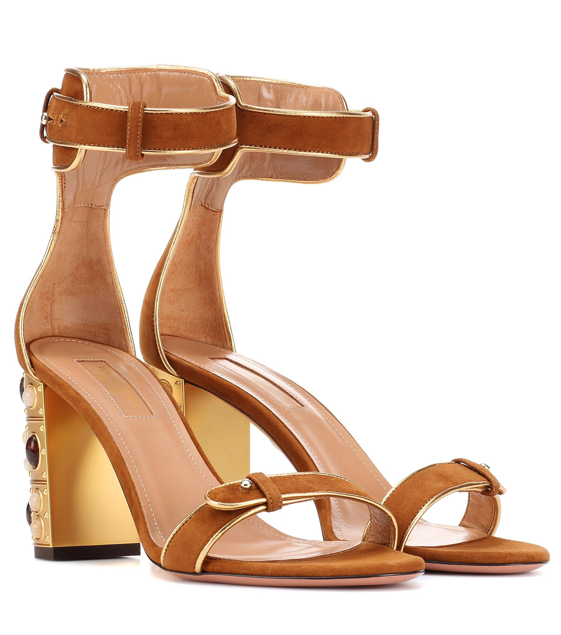 Aquazzura Lucky Star 85 suede pumps Big Sale For Sale Discount 100% Guaranteed Visit Cheap Price Free Shipping Store Cheap Sale Huge Surprise 8BgsJU9TEQ