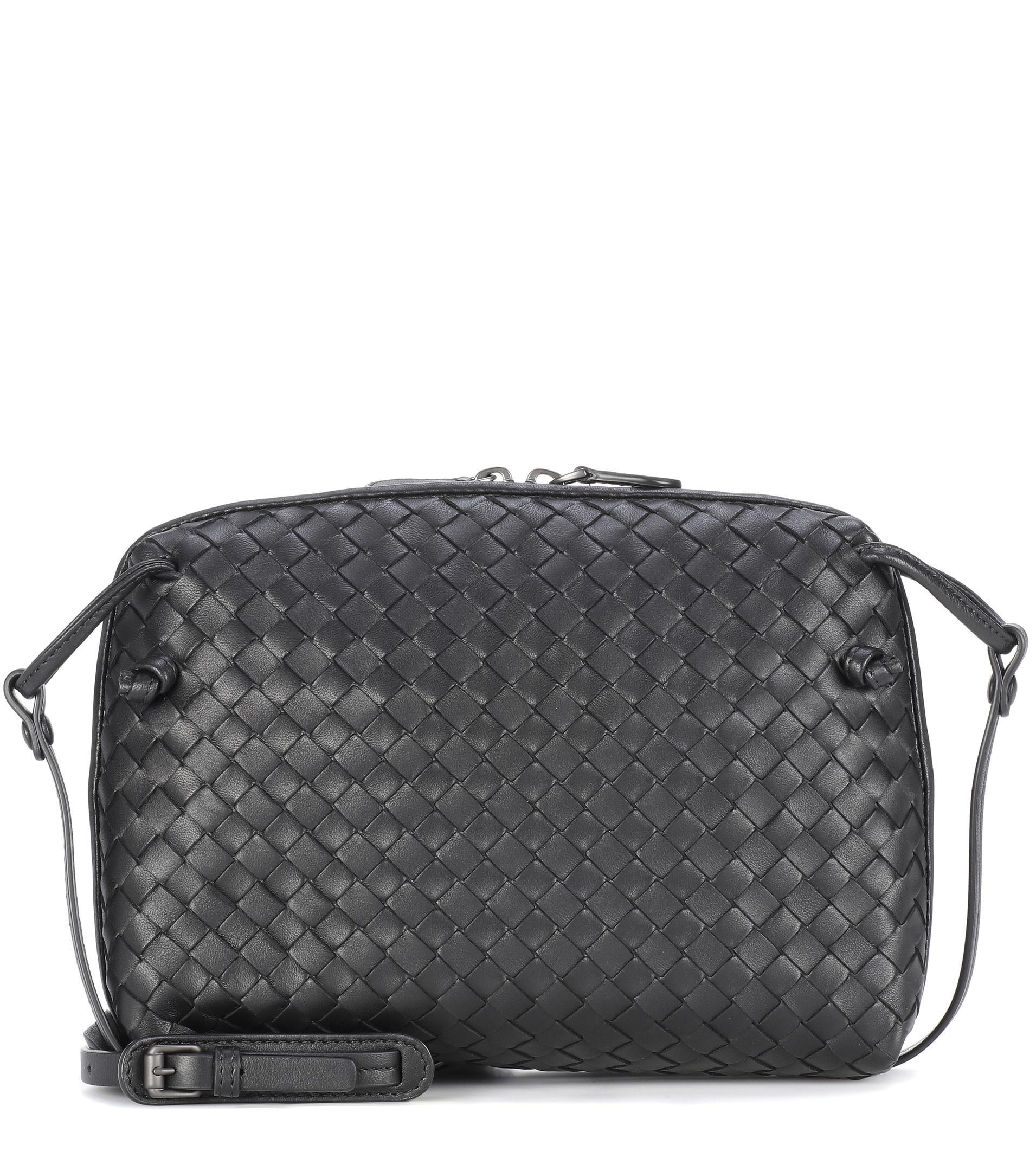 f326822024a0 Bottega Veneta Nodini Leather Crossbody Bag in Black - Lyst