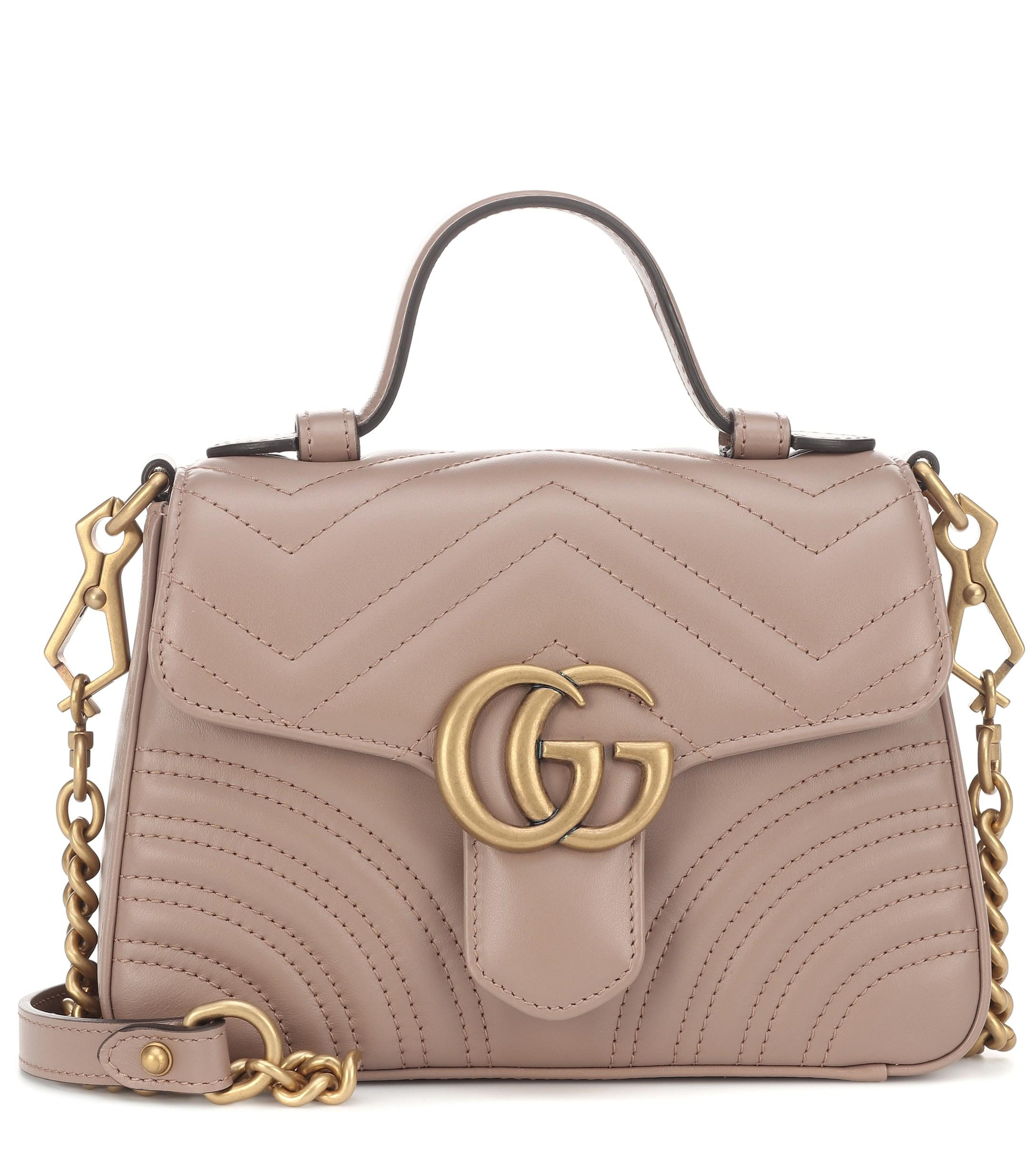 007812ce7 ... Gucci - Natural GG Marmont Mini Shoulder Bag - Lyst. Visit Mytheresa.  Tap to visit site