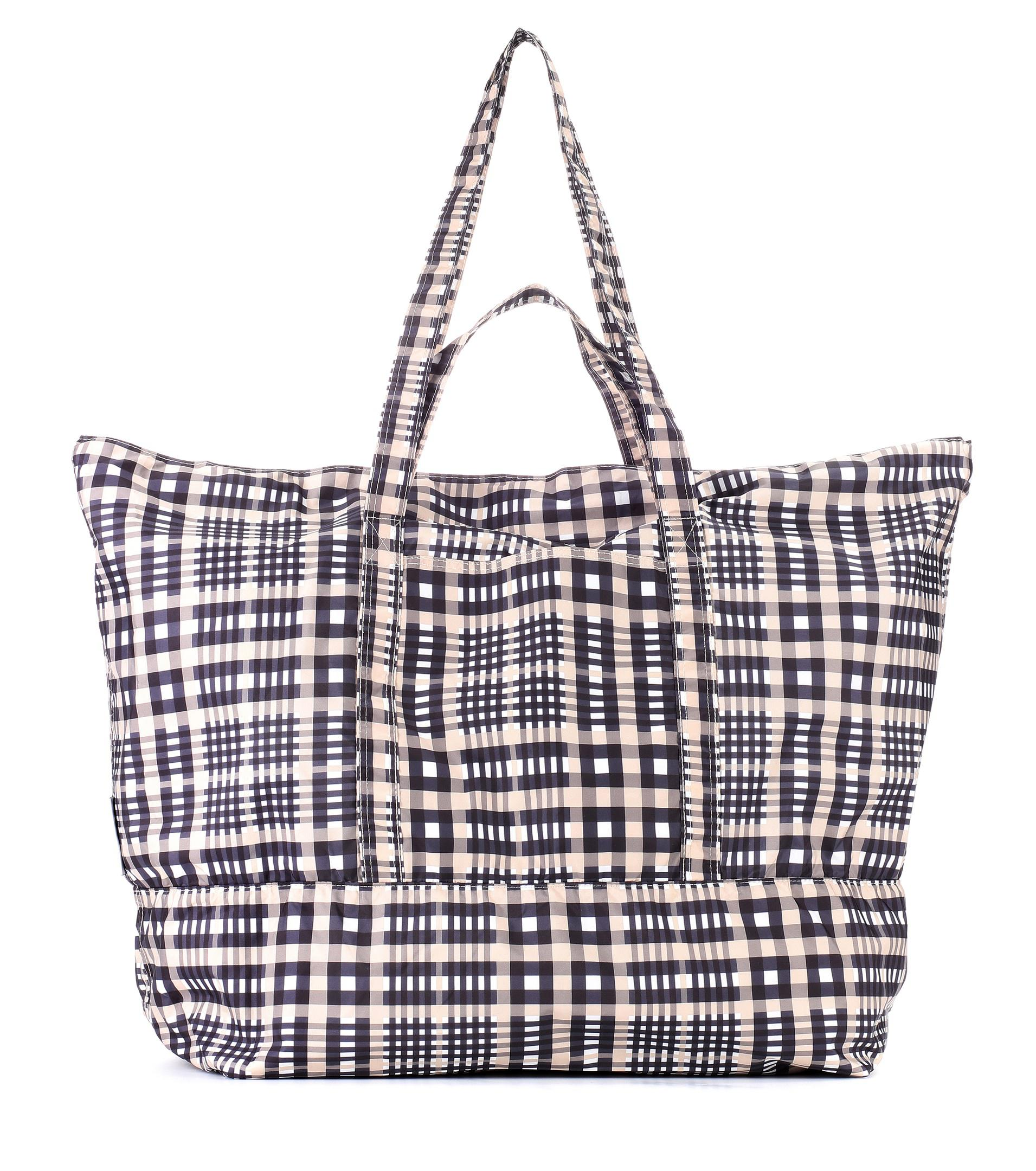 86048133dd Lyst - Ganni Fairmont Checked Tote in Red