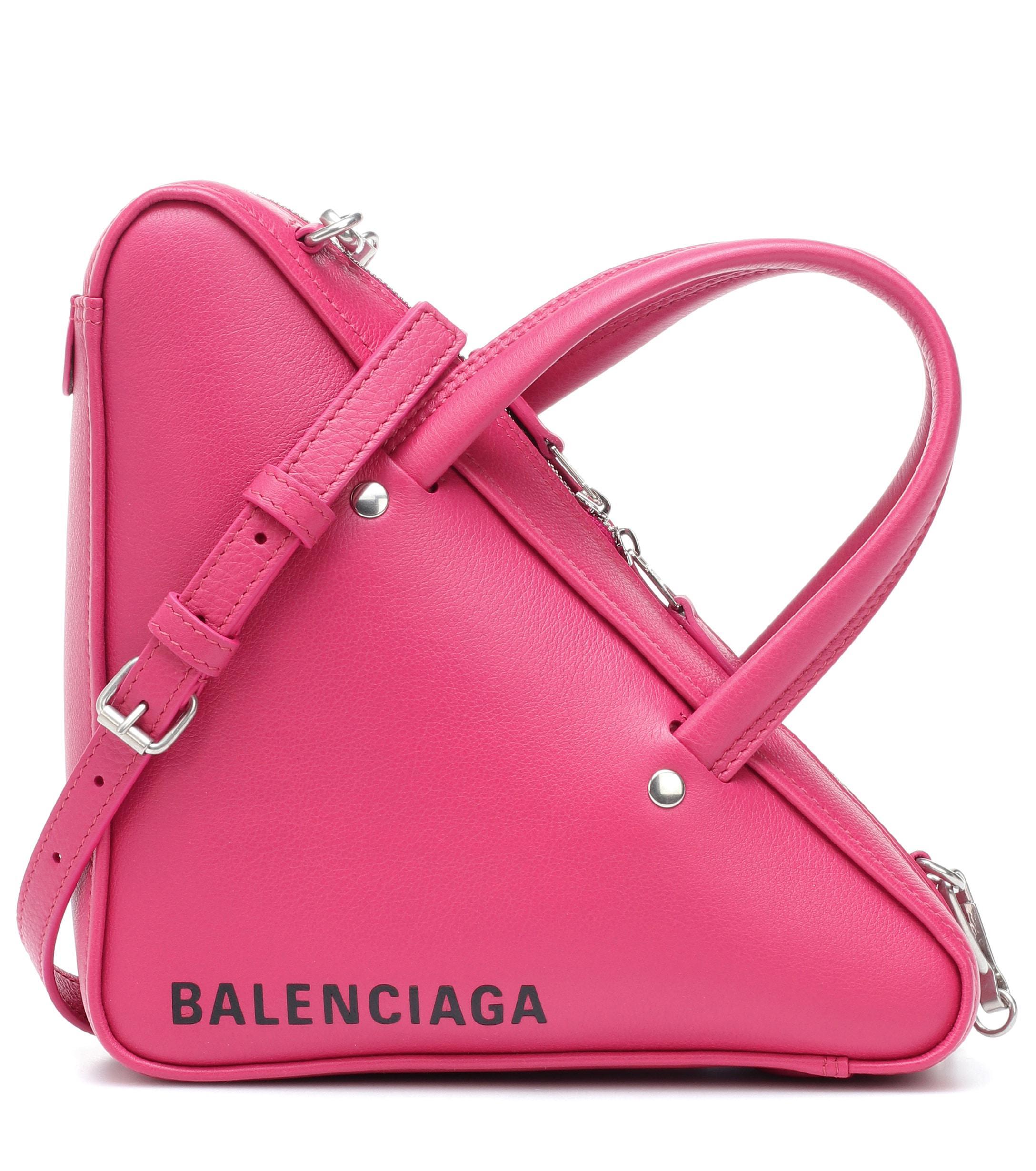 173efa059824f Balenciaga - Pink Triangle Duffle Xs Leather Tote - Lyst. View fullscreen