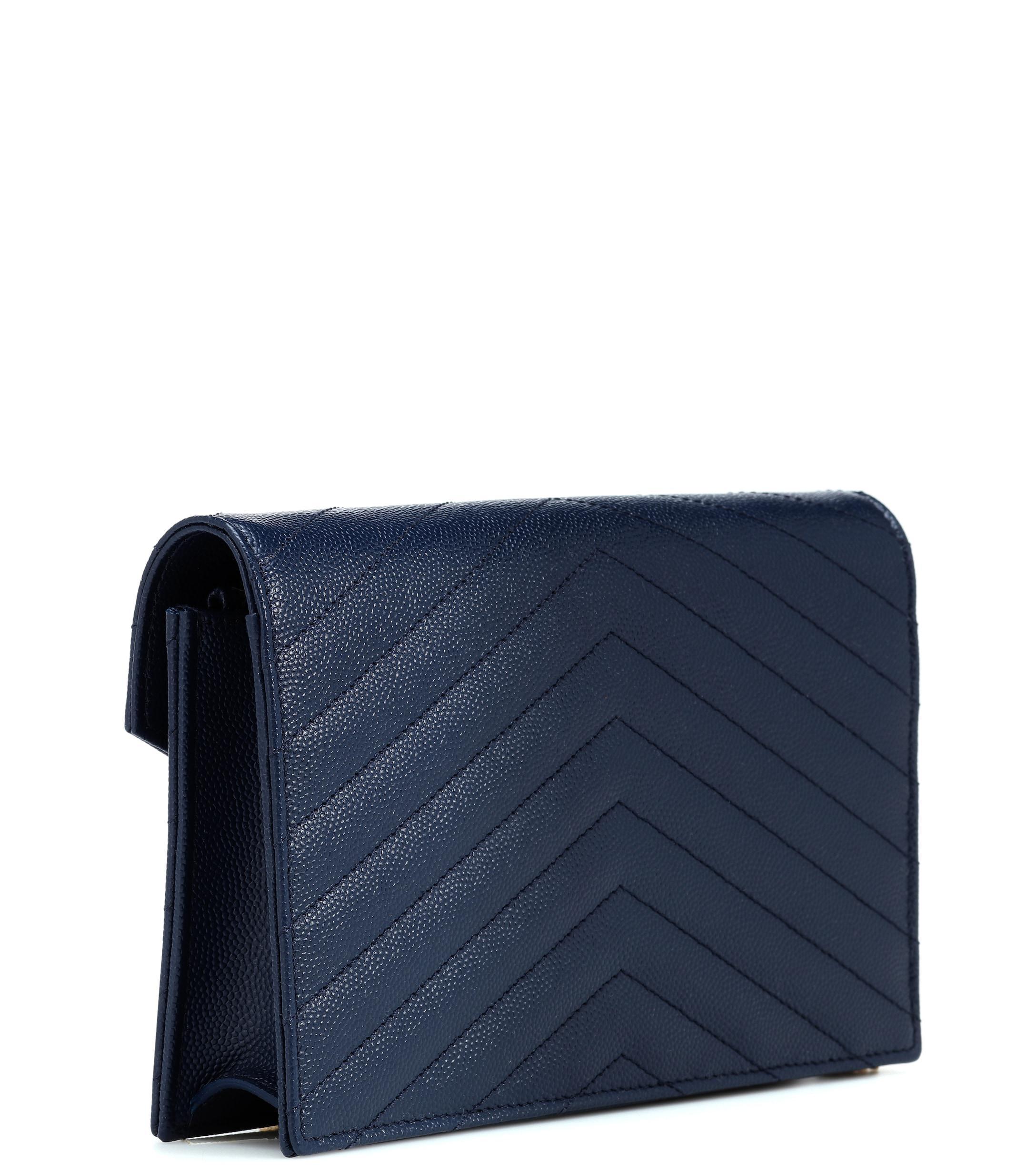 ada7b49819db Saint Laurent - Blue Monogram Envelope Shoulder Bag - Lyst. View fullscreen