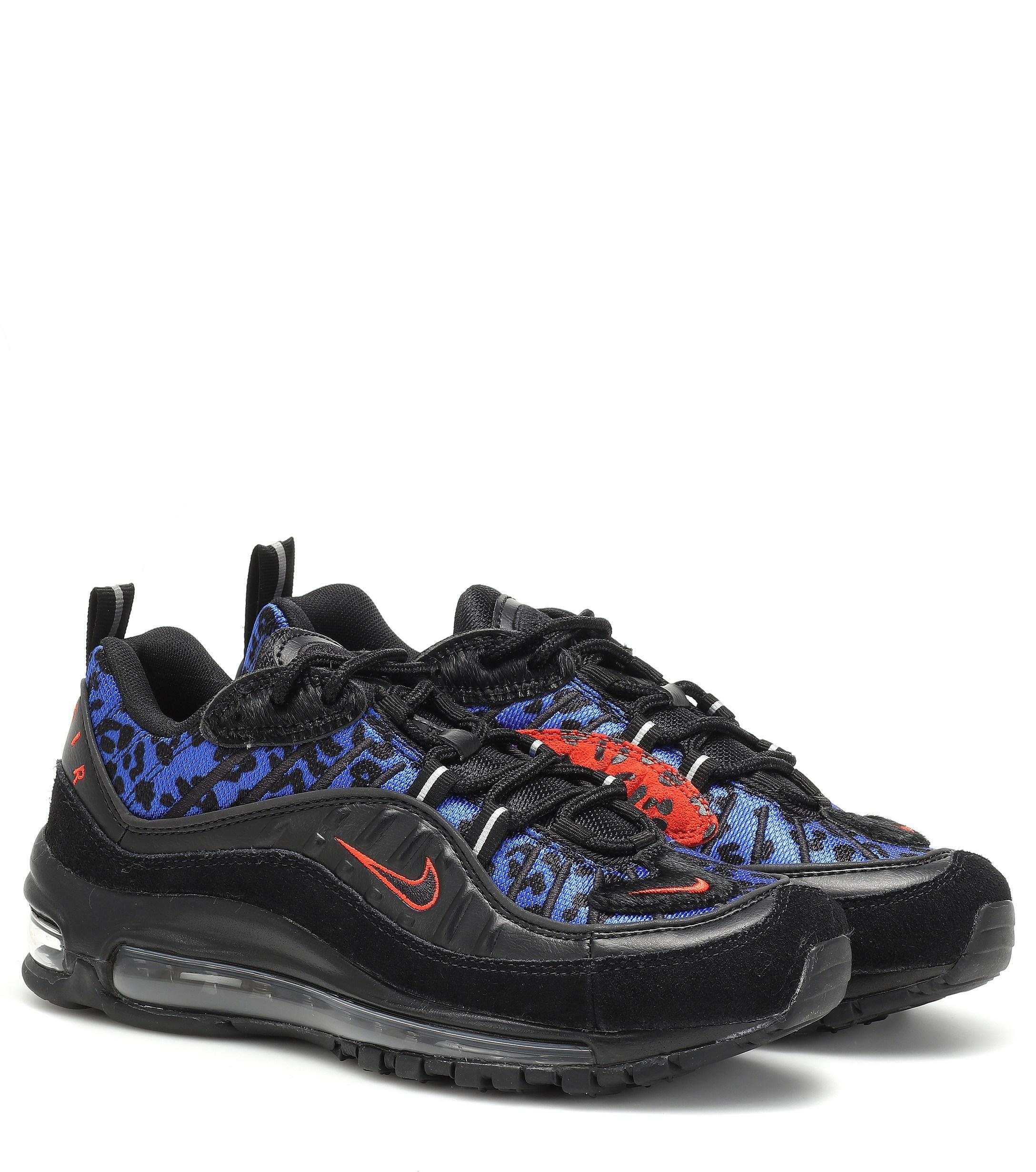 77829beb6125 Nike Air Max 98 Premium Animal Sneakers in Black - Save 9% - Lyst
