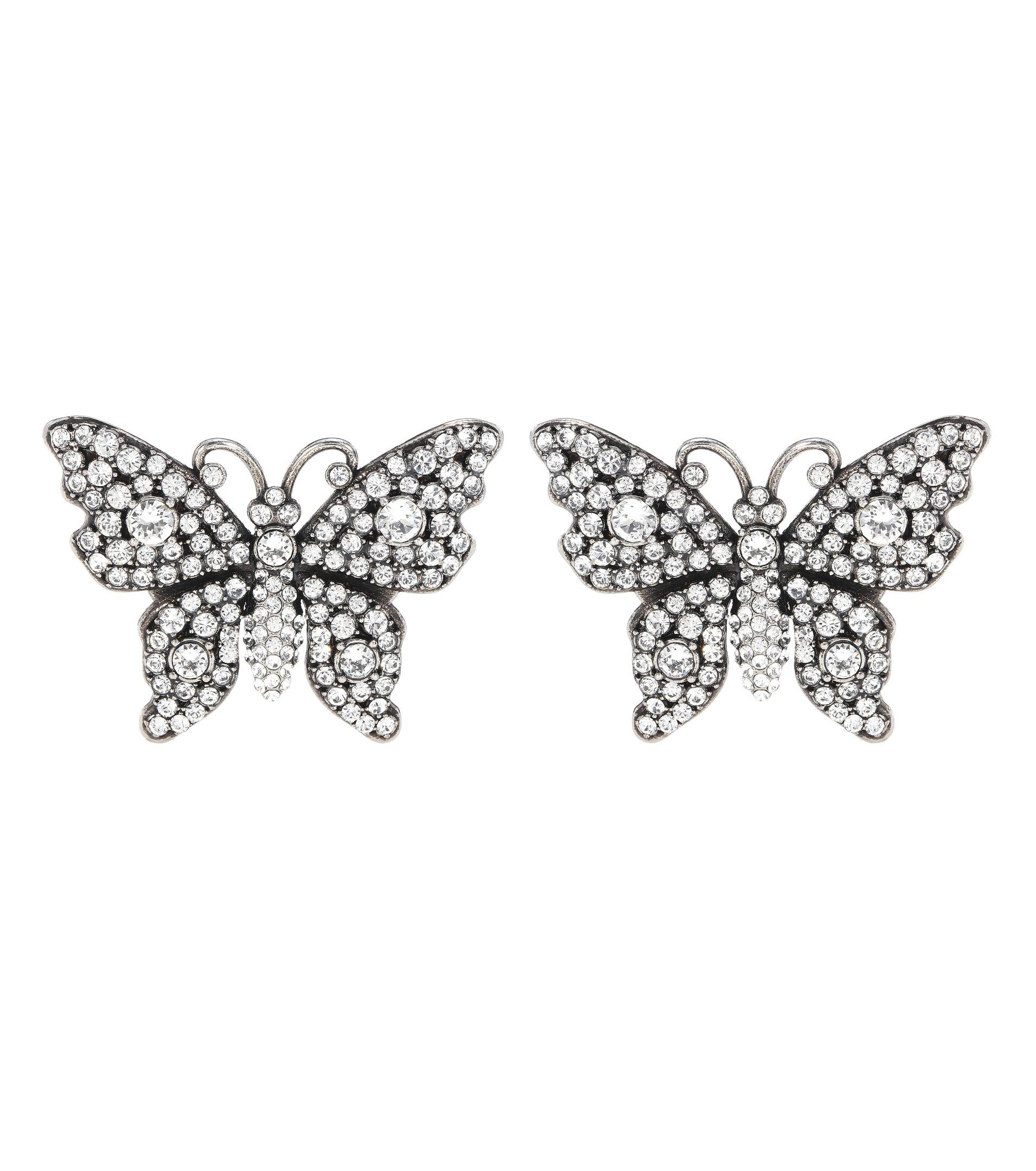 Gucci Crystal studded butterfly earrings TUmxm1s