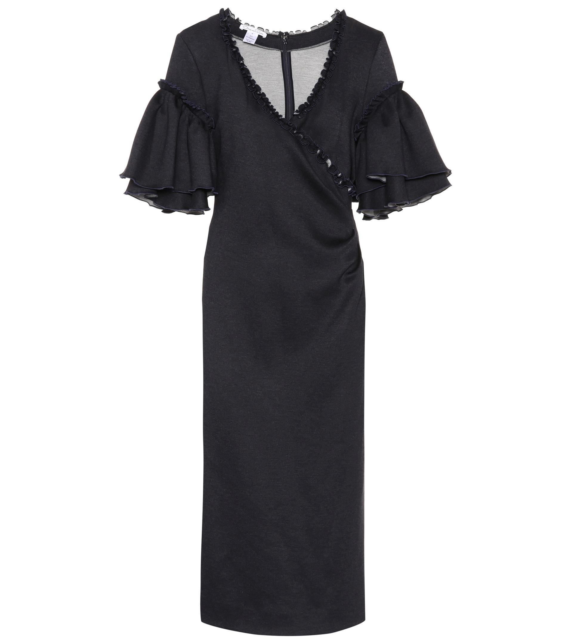 Wrap-style dress Oscar De La Renta B3FOi