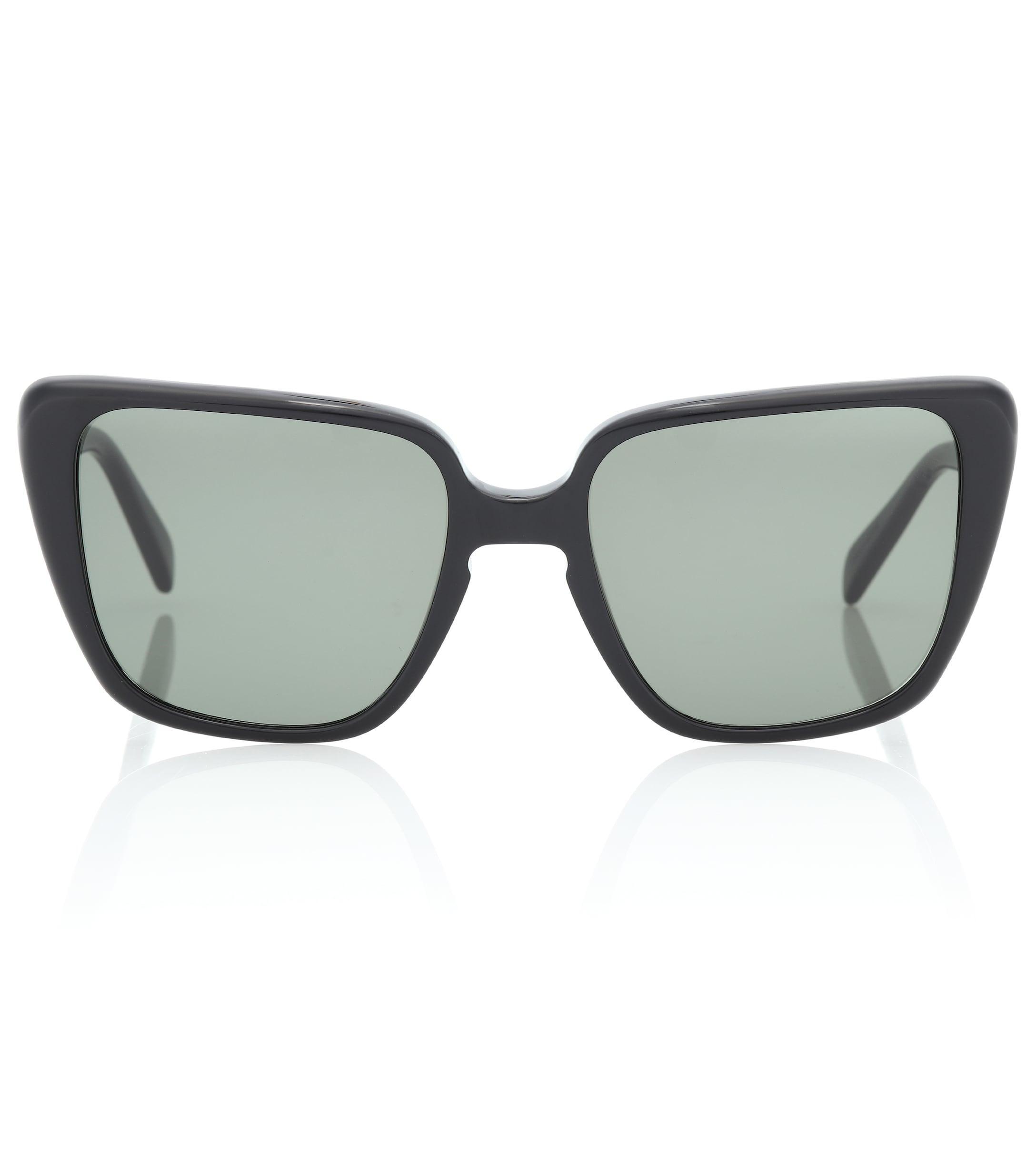 06be996be2e Lyst - Céline Rectangular Butterfly Sunglasses in Black