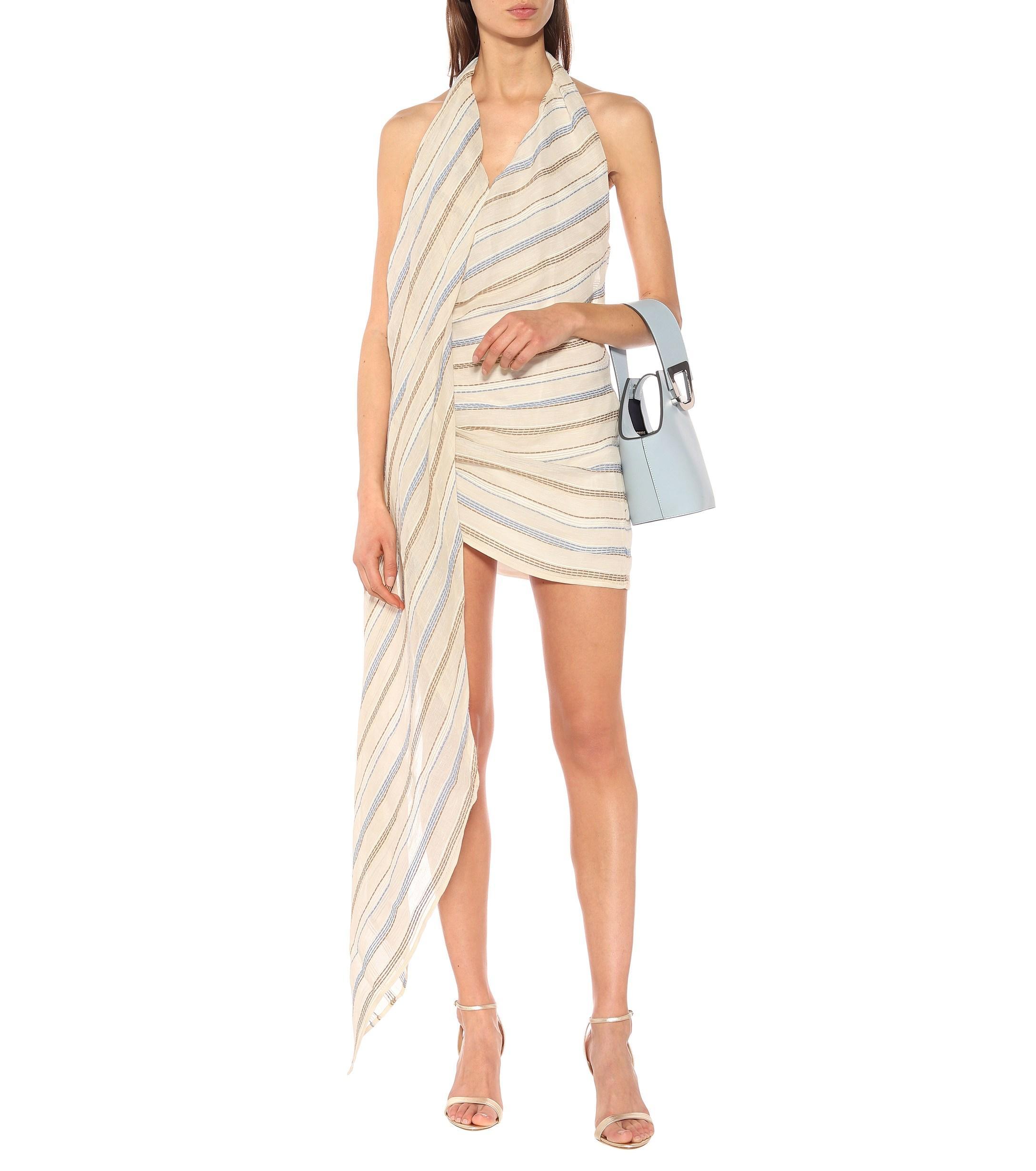7cc6dbfe3a7 Jacquemus - Natural Spezia Cotton And Linen Blend Halterneck Dress - Lyst.  View fullscreen