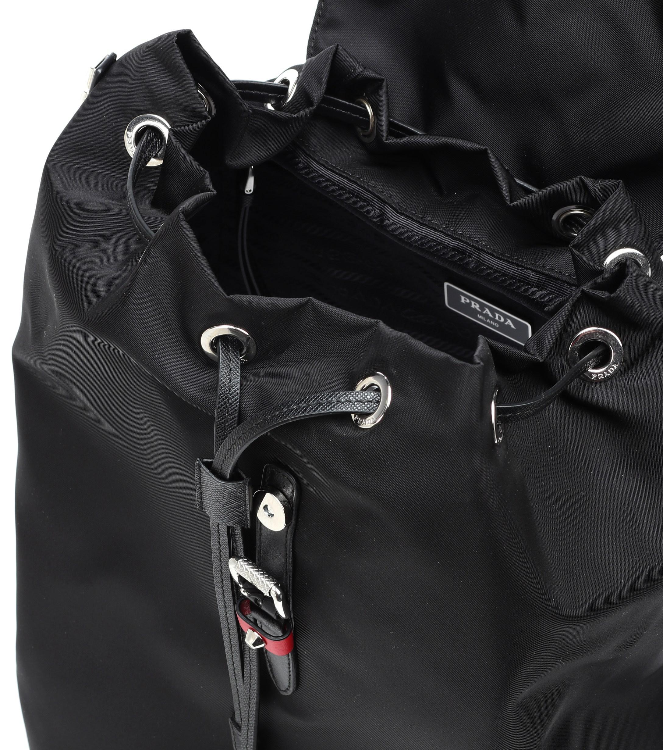770a33555324 Prada - Black Embellished Nylon Backpack - Lyst. View fullscreen