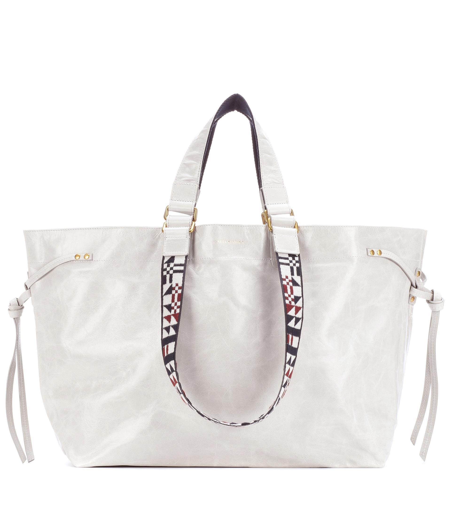 Womens Doogan Leather Shopper Tote Bag Isabel Marant XcvHf