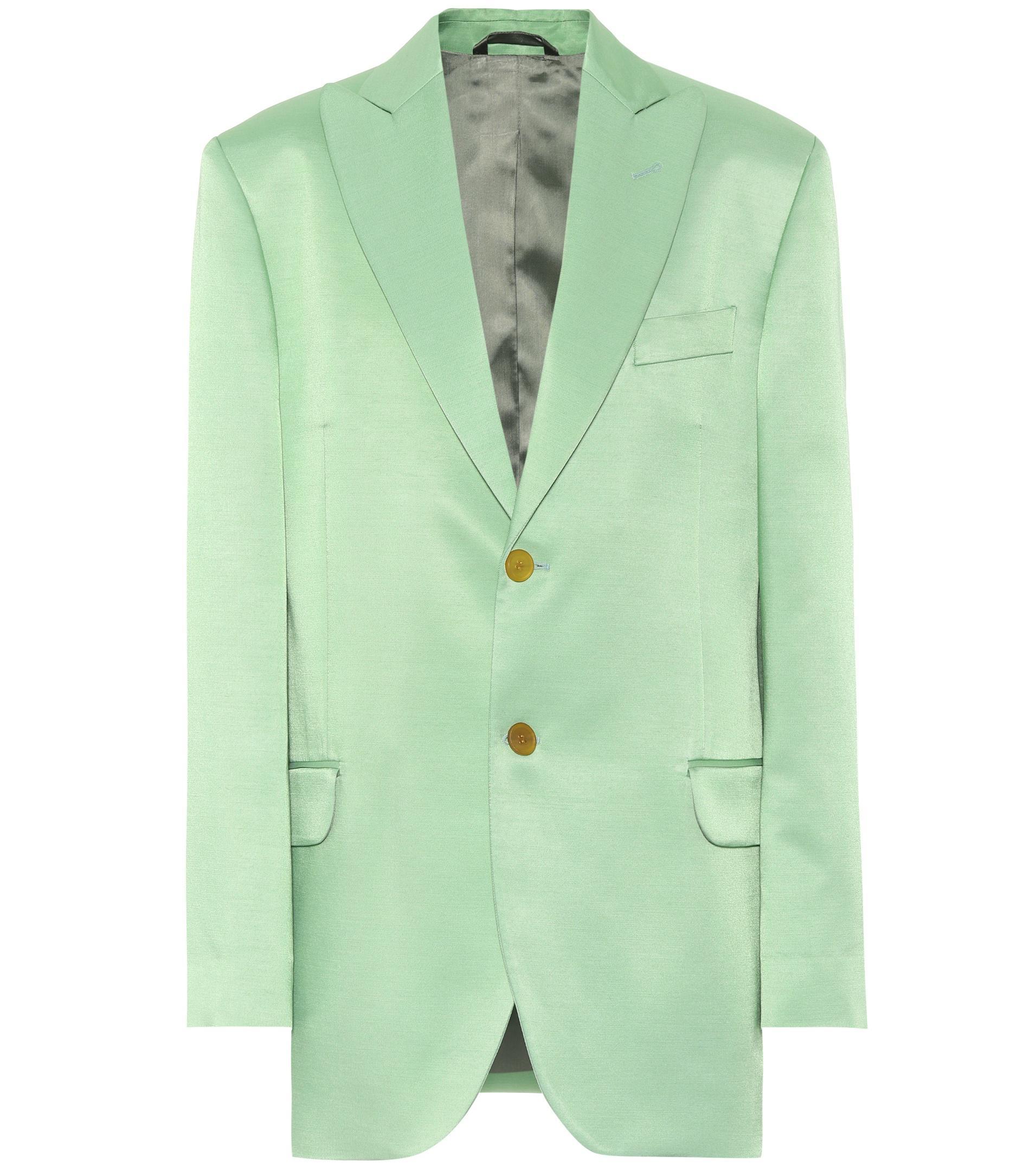 Jaria In Blend Green Lyst Blazer Wool Studios Acne bv7Yf6gy
