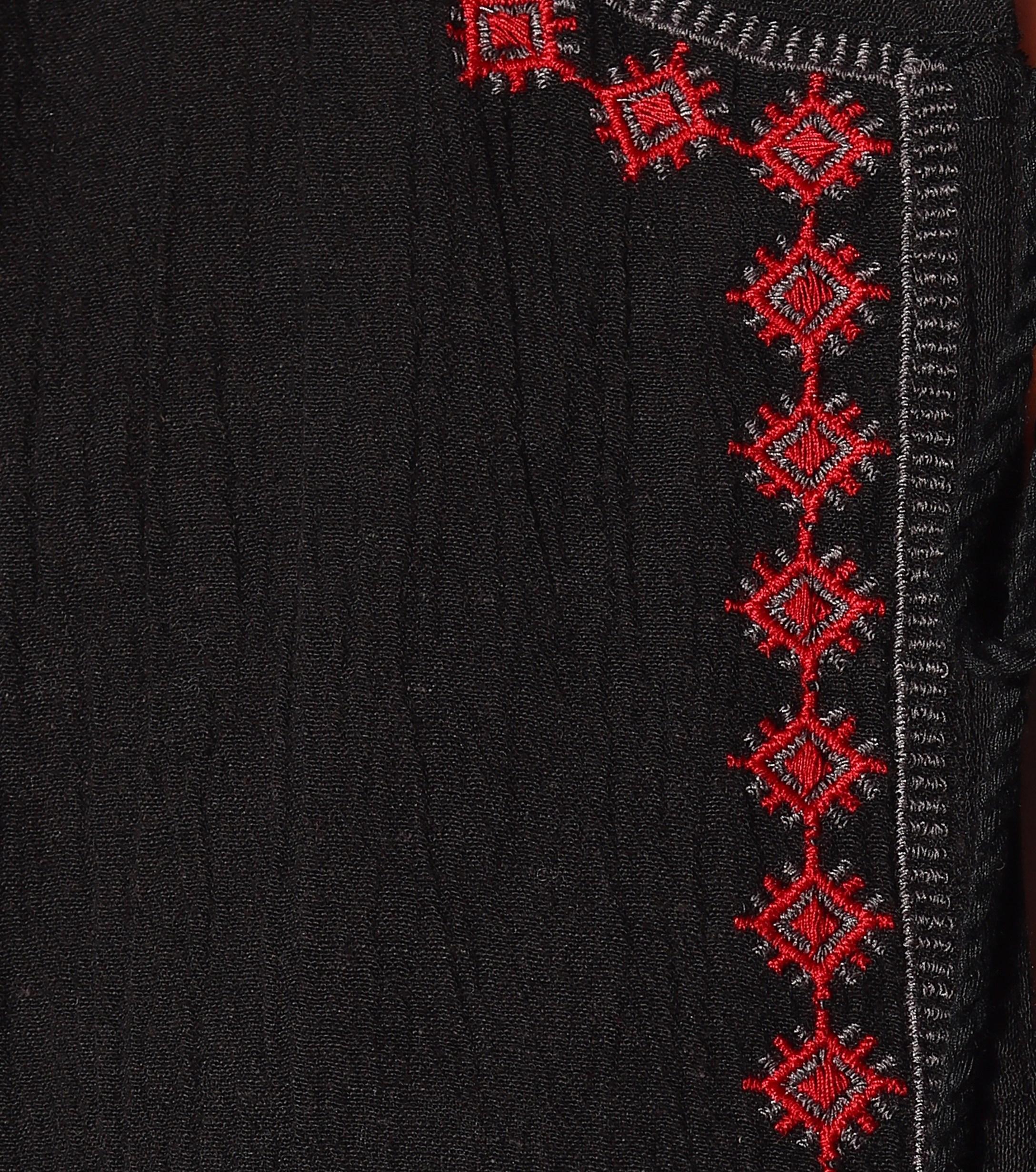 b1b99c005a97c Velvet By Graham   Spencer - Black Etta Embroidered Crinkled Gauze Peasant  Dress - Lyst. View fullscreen