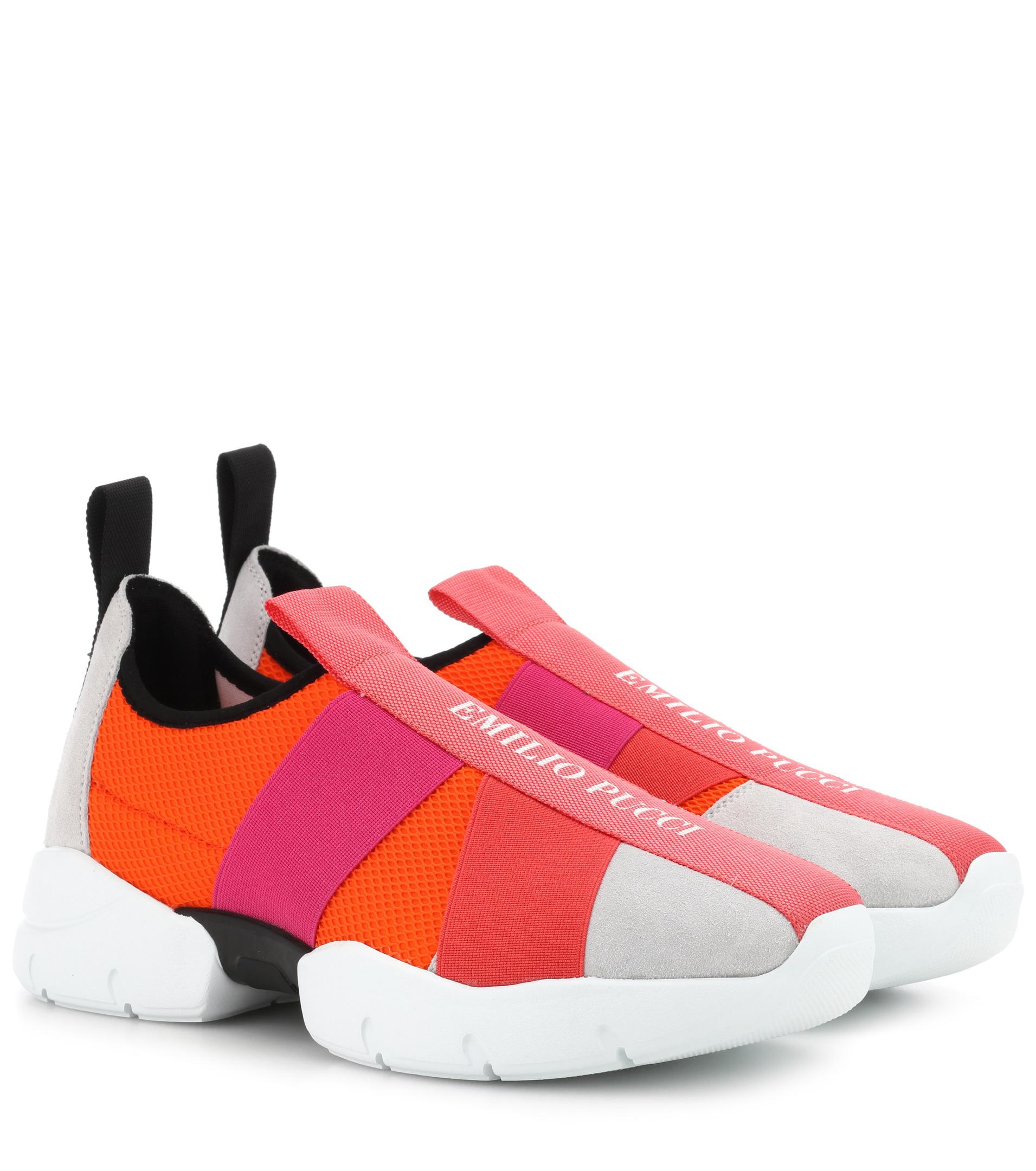 clearance choice Emilio Pucci Suede-trimmed sneakers cheap sast for sale for sale clearance footlocker discount low price vKRpf6