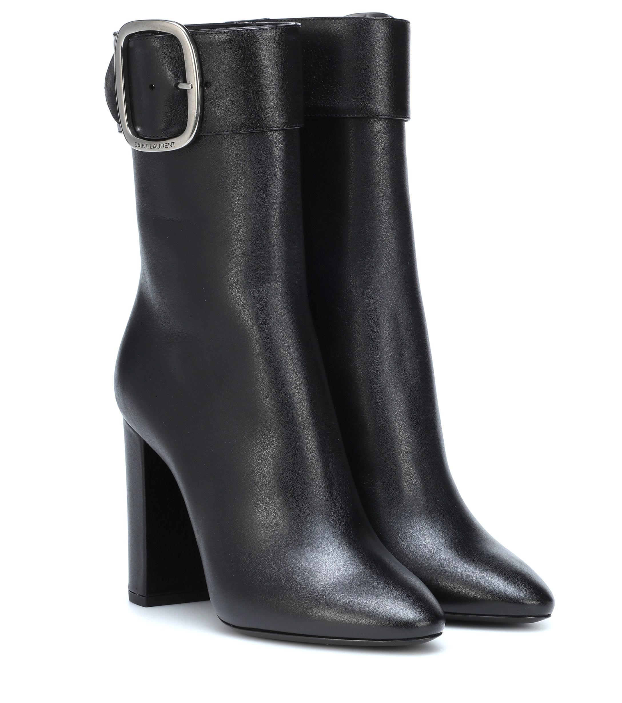 d3896da9cbf Saint Laurent - Black Joplin Leather Ankle Boots - Lyst. View fullscreen