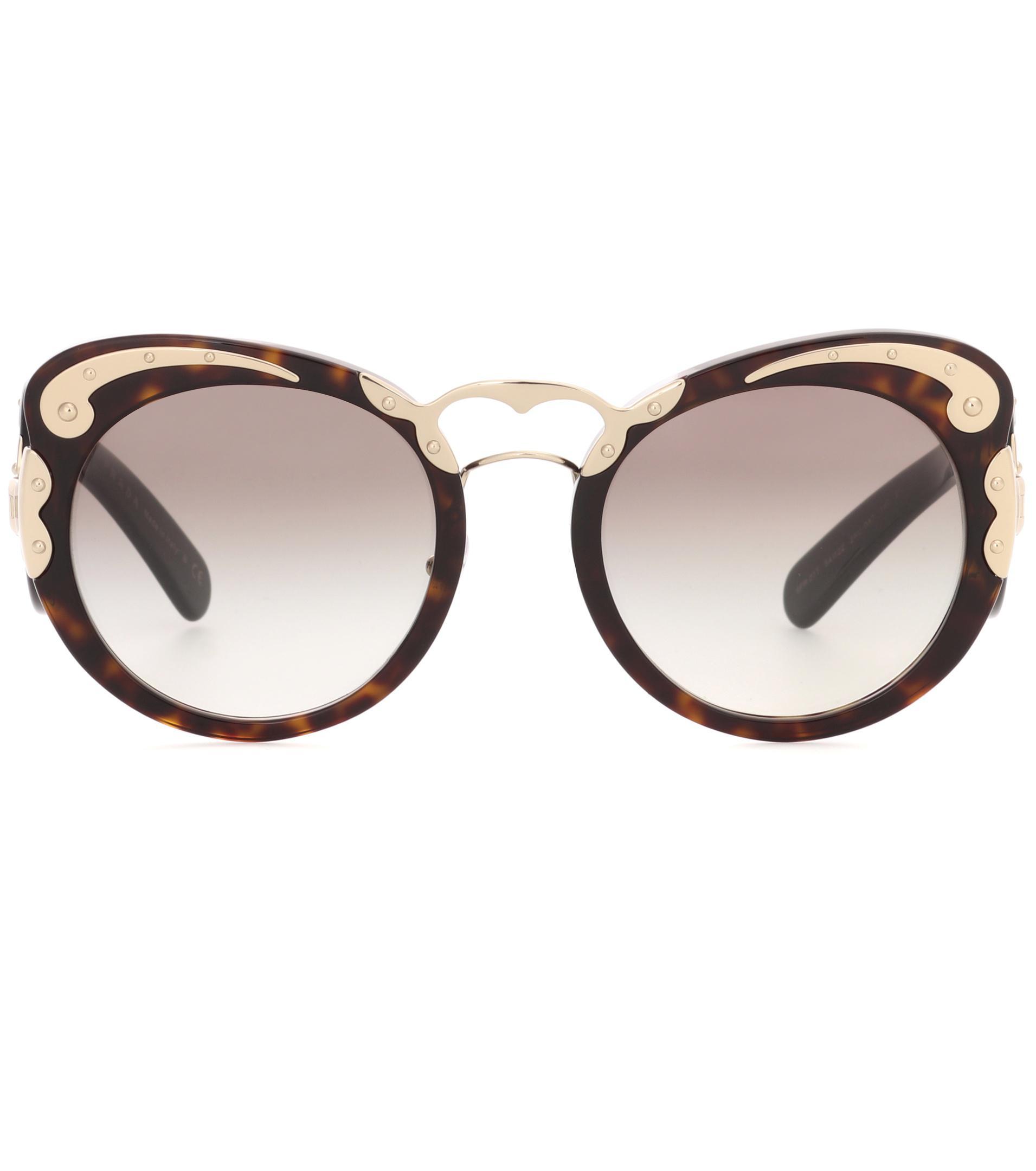 fb2ee571b46 Lyst - Prada Minimal-baroque Sunglasses in Brown