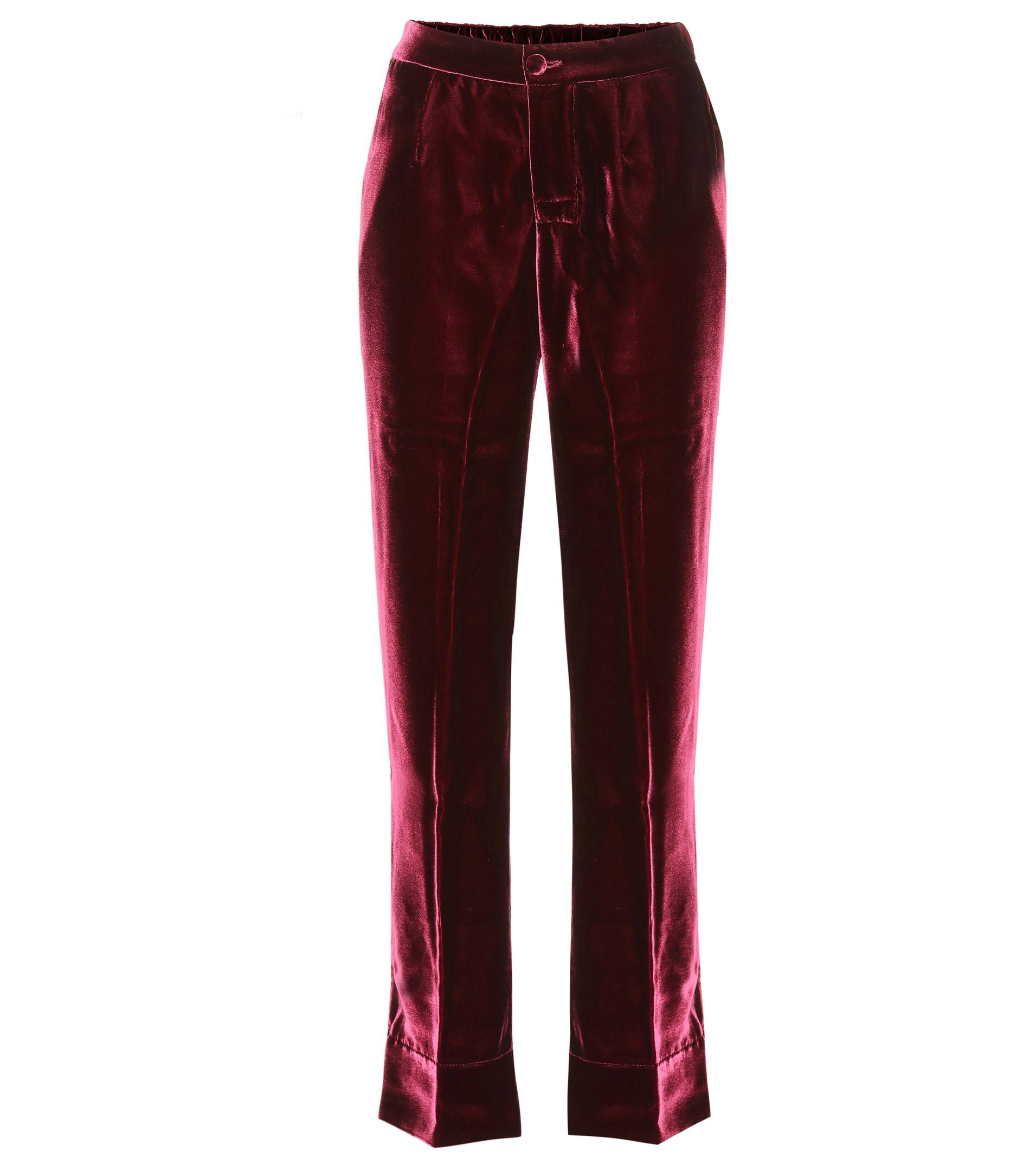 1c150f723 Lyst - F.R.S For Restless Sleepers Crono Velvet Trousers in Red
