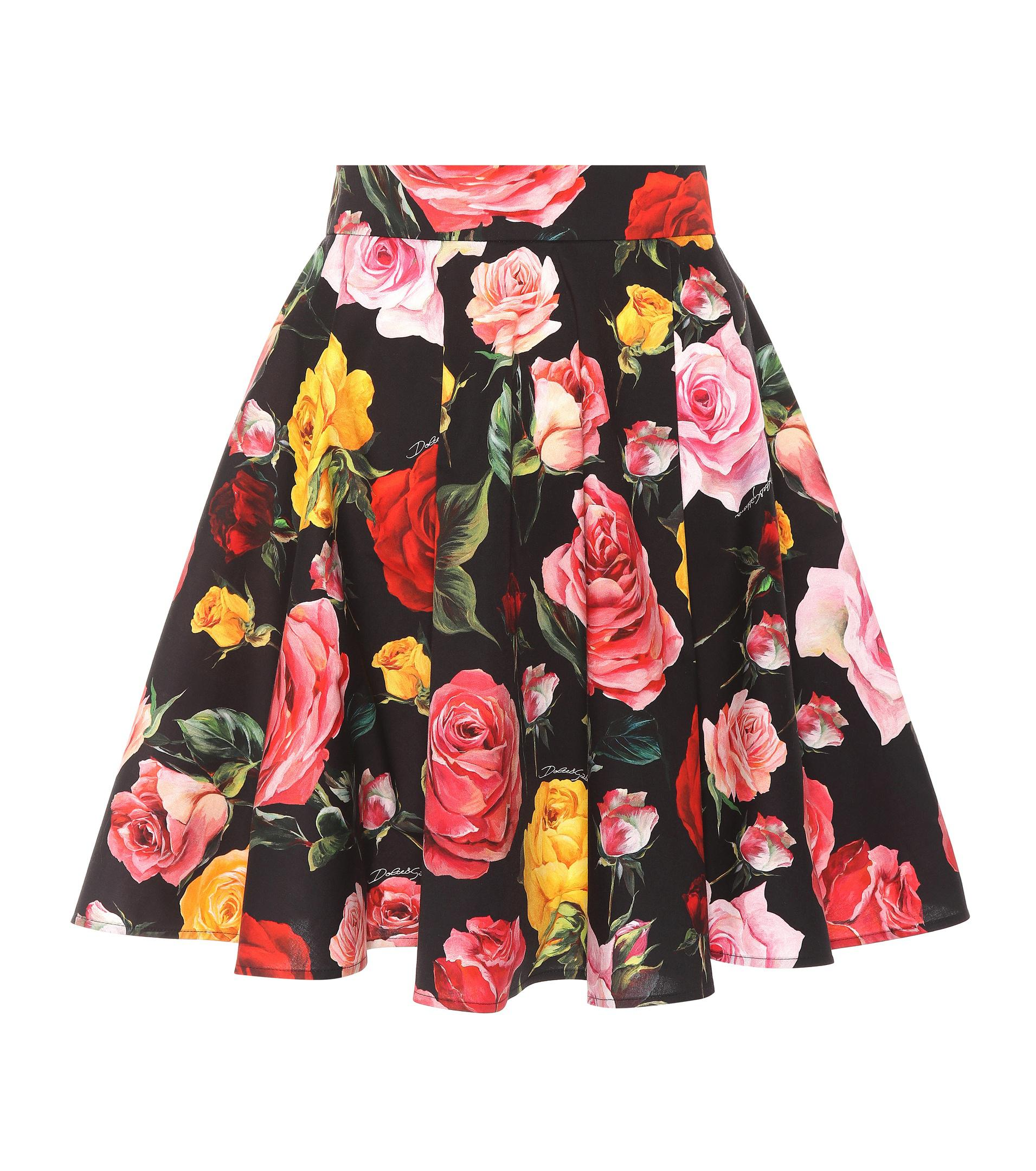 Floral-printed cotton skirt Dolce & Gabbana Outlet From China Cheap Usa Stockist Discount Top Quality Cheap Prices Authentic Fik2joj9