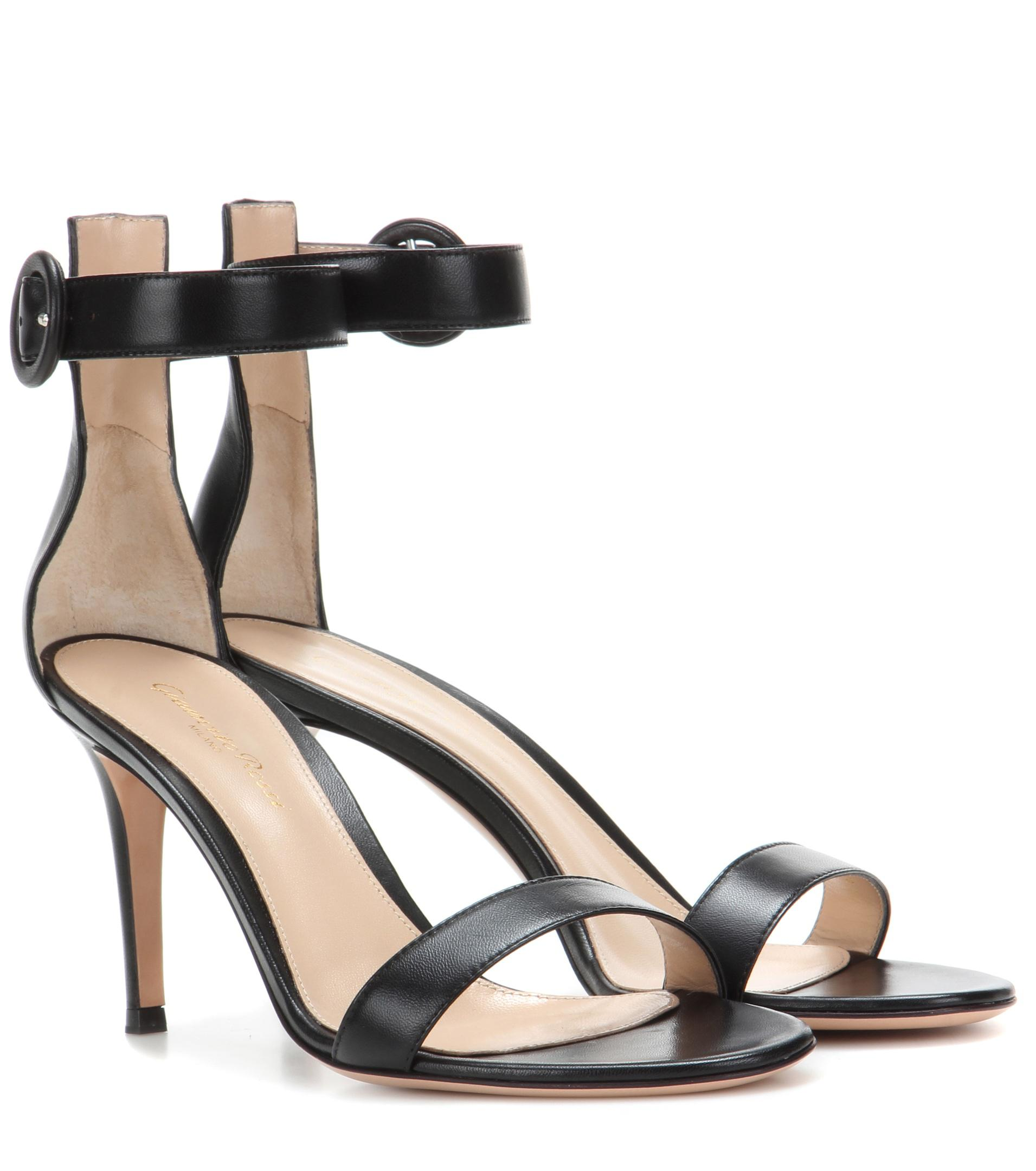 Best Place Newest Sale Online Portofino 105 Suede Sandals - Black Gianvito Rossi Sale Collections Lowest Price For Sale T0fC3de59i