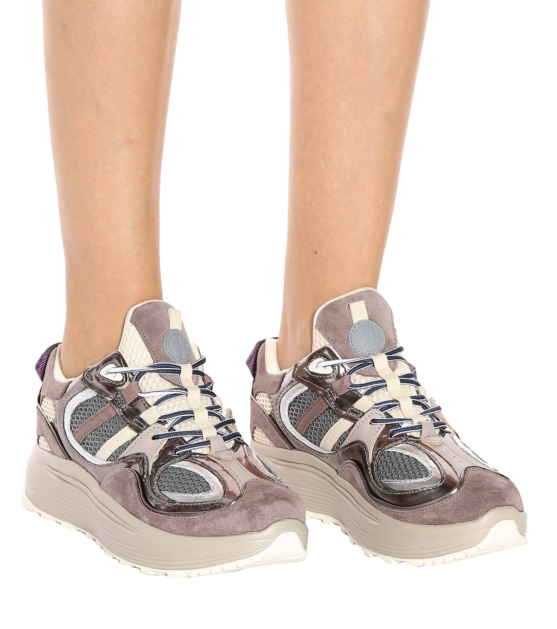 798d71db50 Eytys - Multicolor Jet Turbo Suede And Leather Sneakers - Lyst. View  fullscreen