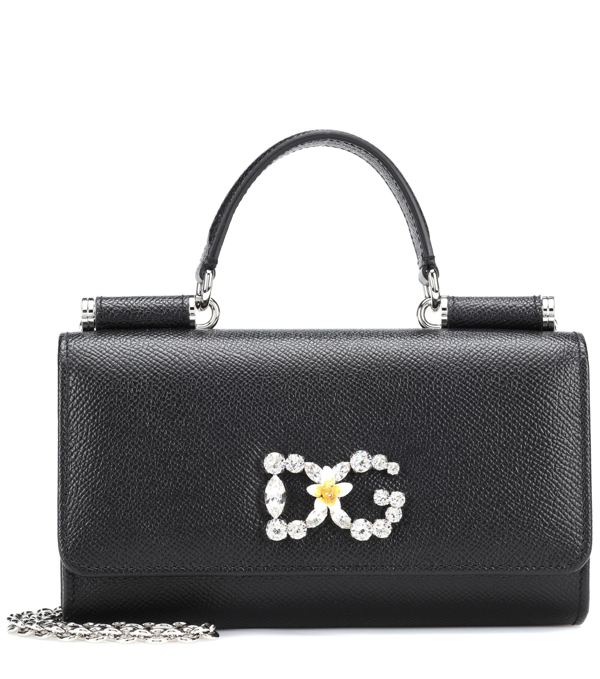 Sac Sicily Lyst Gabbana Ornements Dolceamp; Bandoulière À En Cuir IYeHWED29