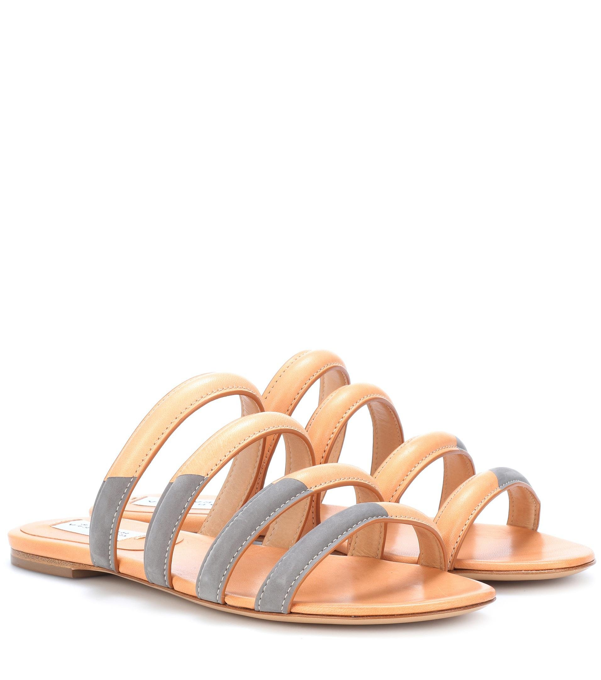 Gabriela Hearst Andersonn leather and suede sandals fast delivery cheap price cheap sale Cheapest qTYFNDdBv