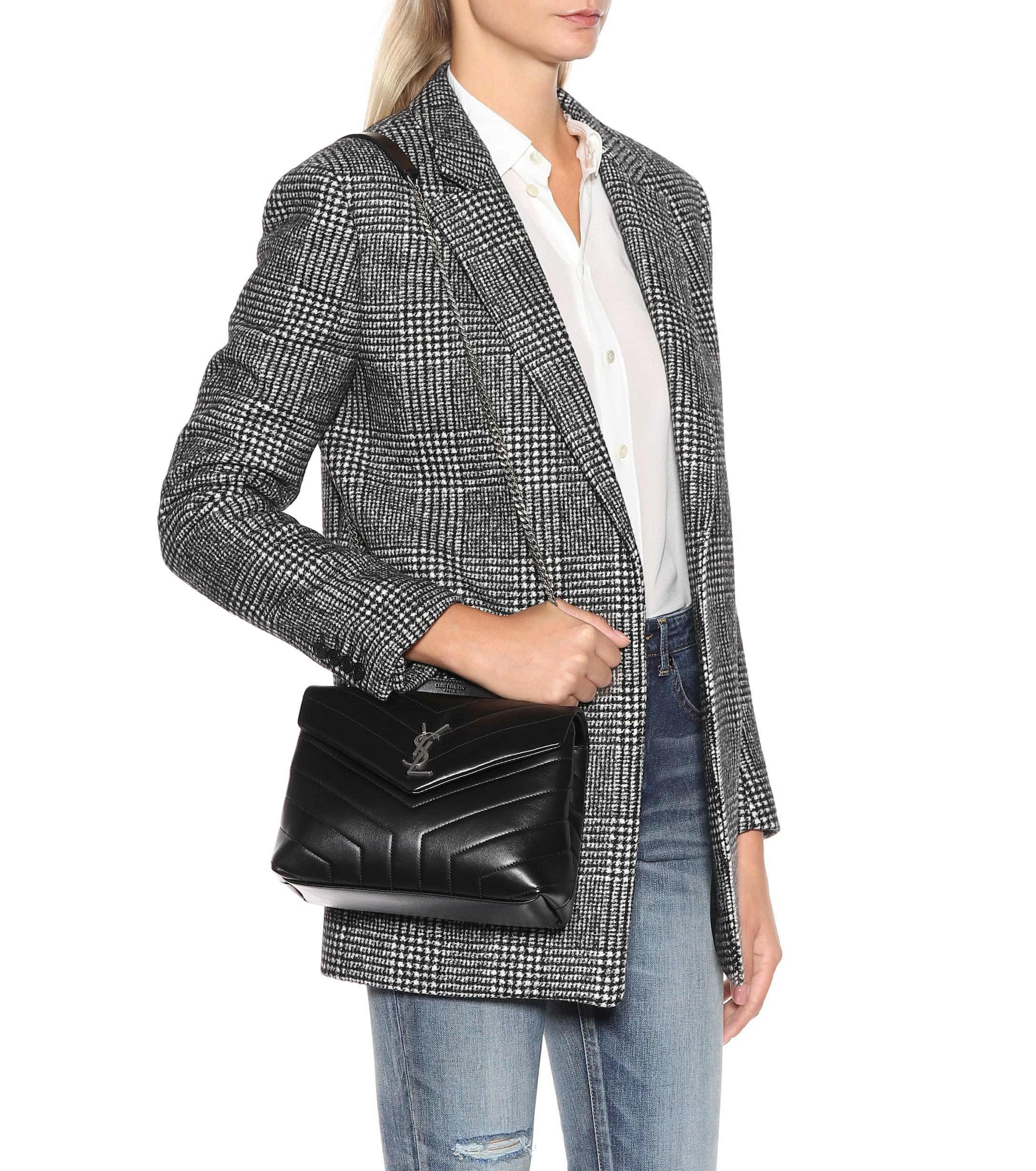 2346d22c3 Saint Laurent Loulou Monogram Small Shoulder Bag in Black - Lyst