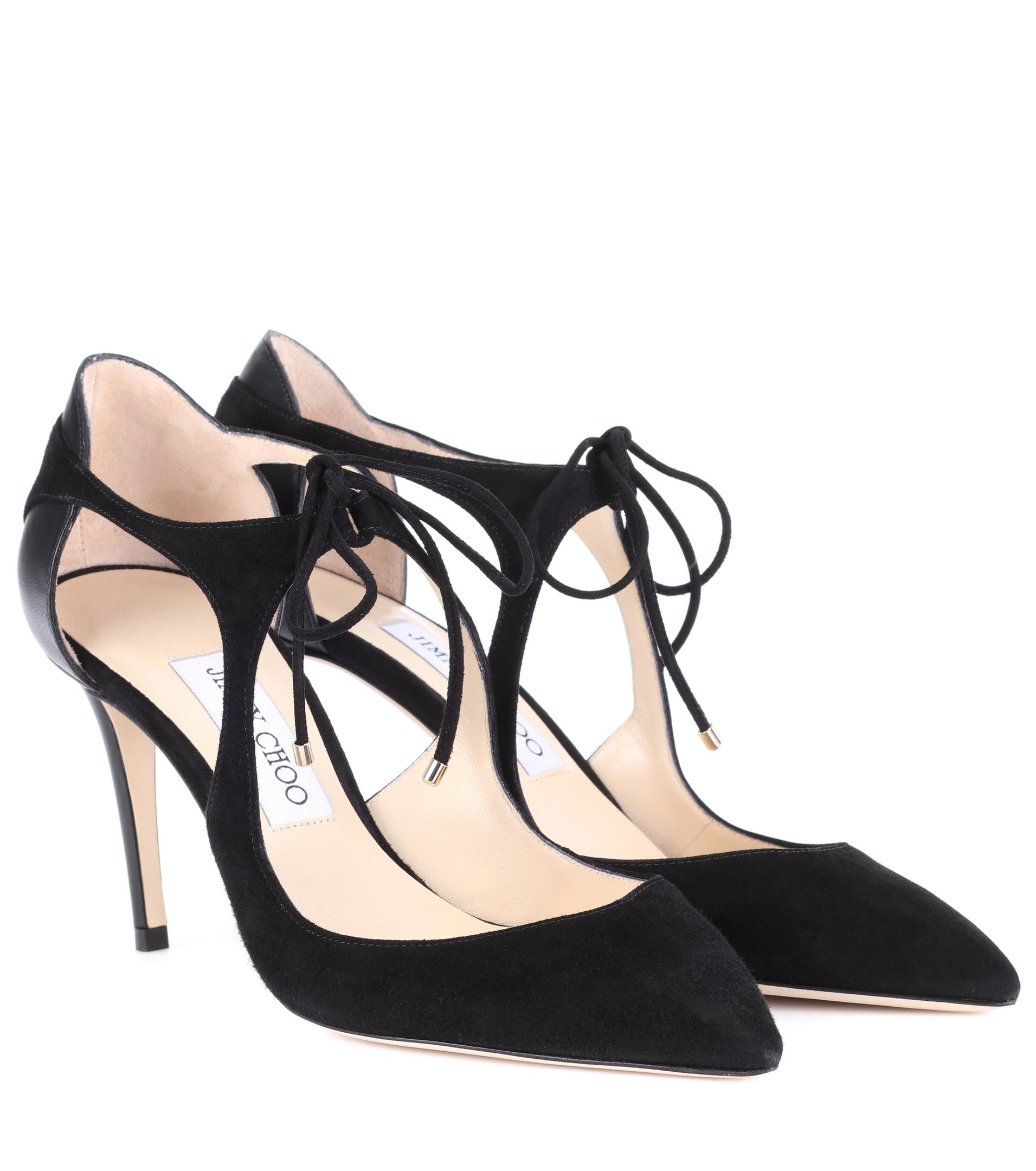 Vanessa 100 Suede Tie Up Pumps in Ballet Pink Suede and Nappa Leathers Jimmy Choo London Cheap Sale For Sale Get To Buy Cheap Price Discount 2018 New Outlet Extremely CHrdfw