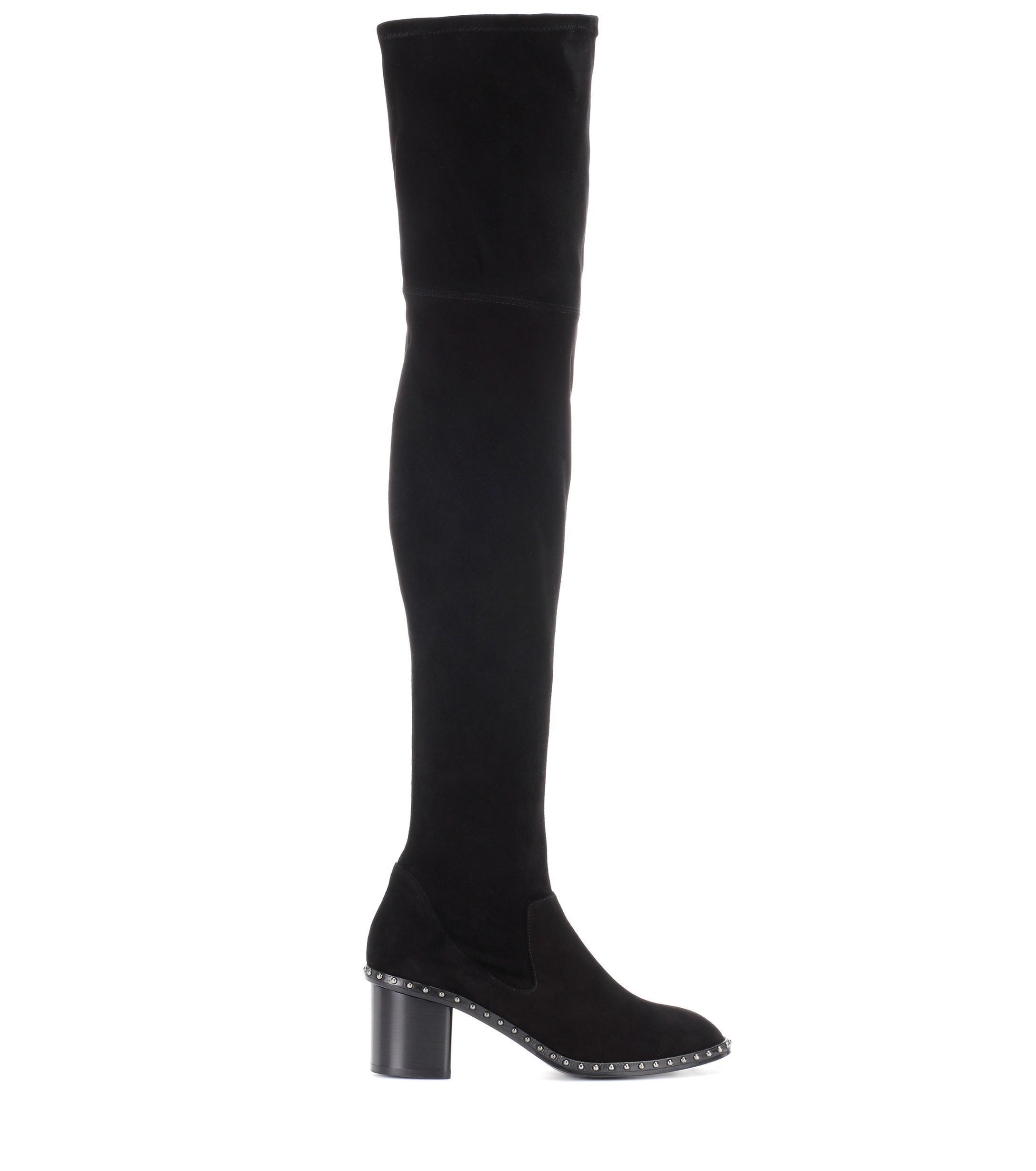 bc729be5598 Lyst - Rag   Bone Rina Suede Over-the-knee Boots in Black