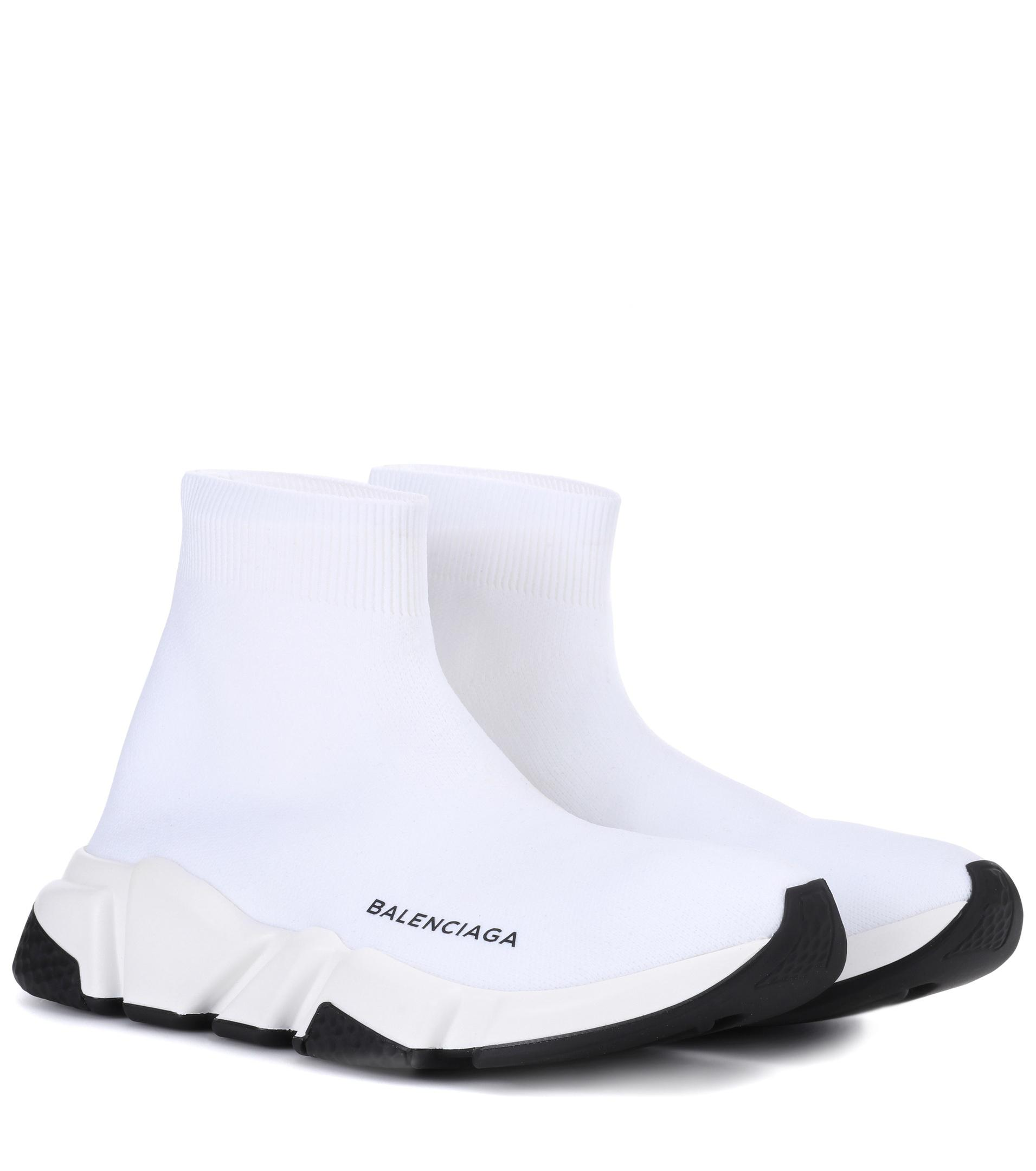 Balenciaga Low-Top Sneakers Slip-On SPEED TRAINER cotton blend Logo print black k1zGAQI