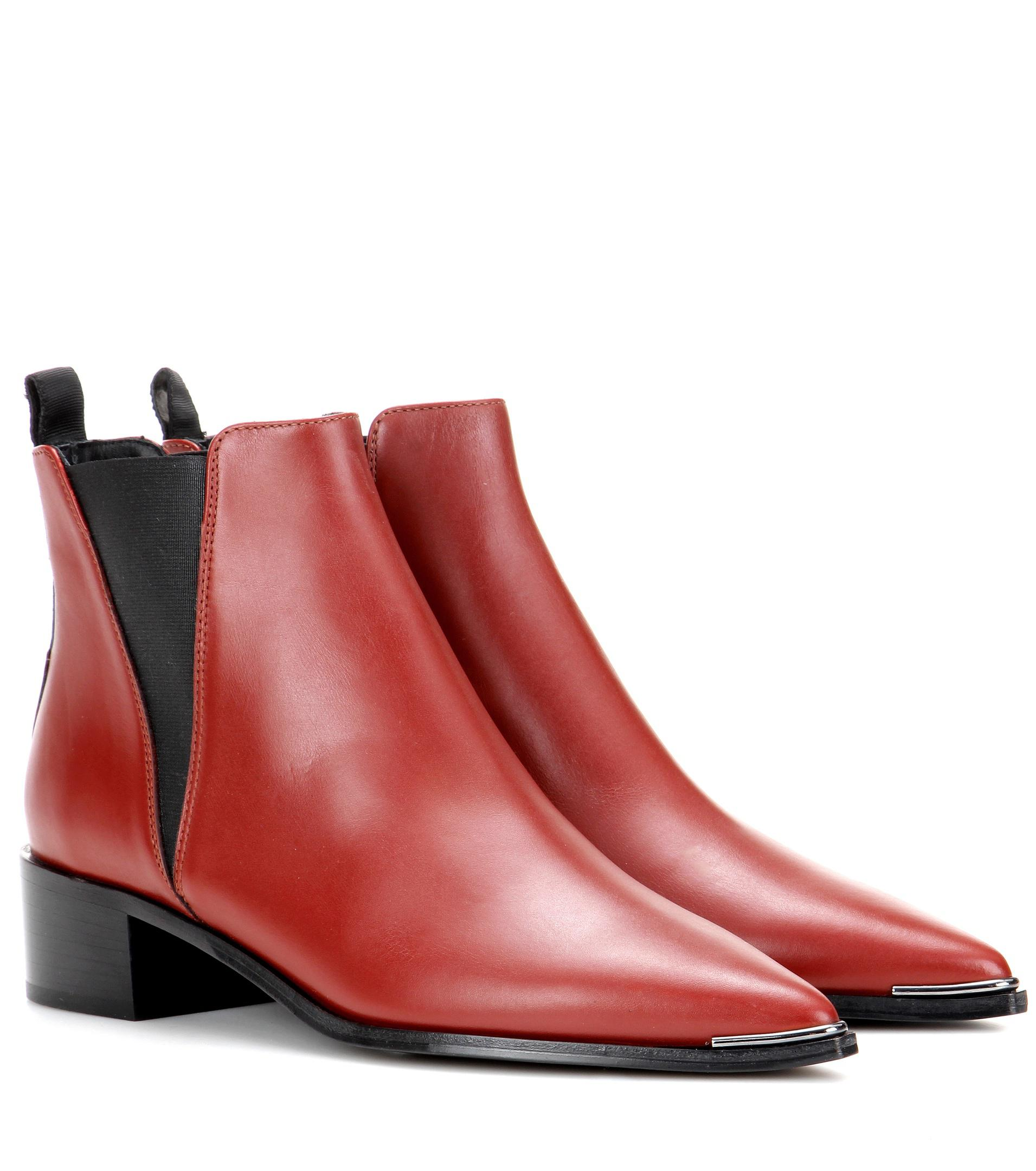 Acne Red Shoes Ssense