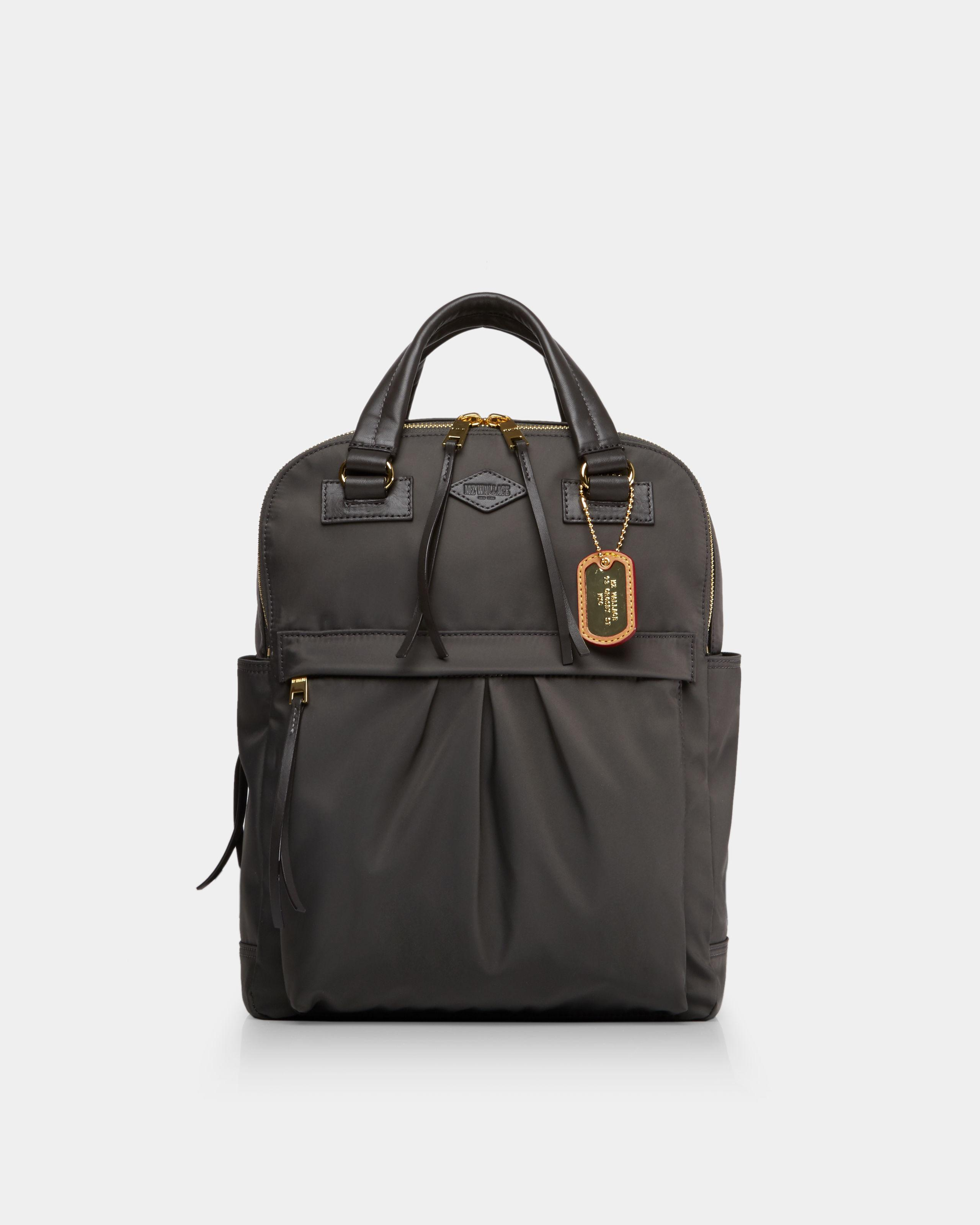 e98beaf00 Lyst - MZ Wallace Anthracite Jordan Backpack in Gray
