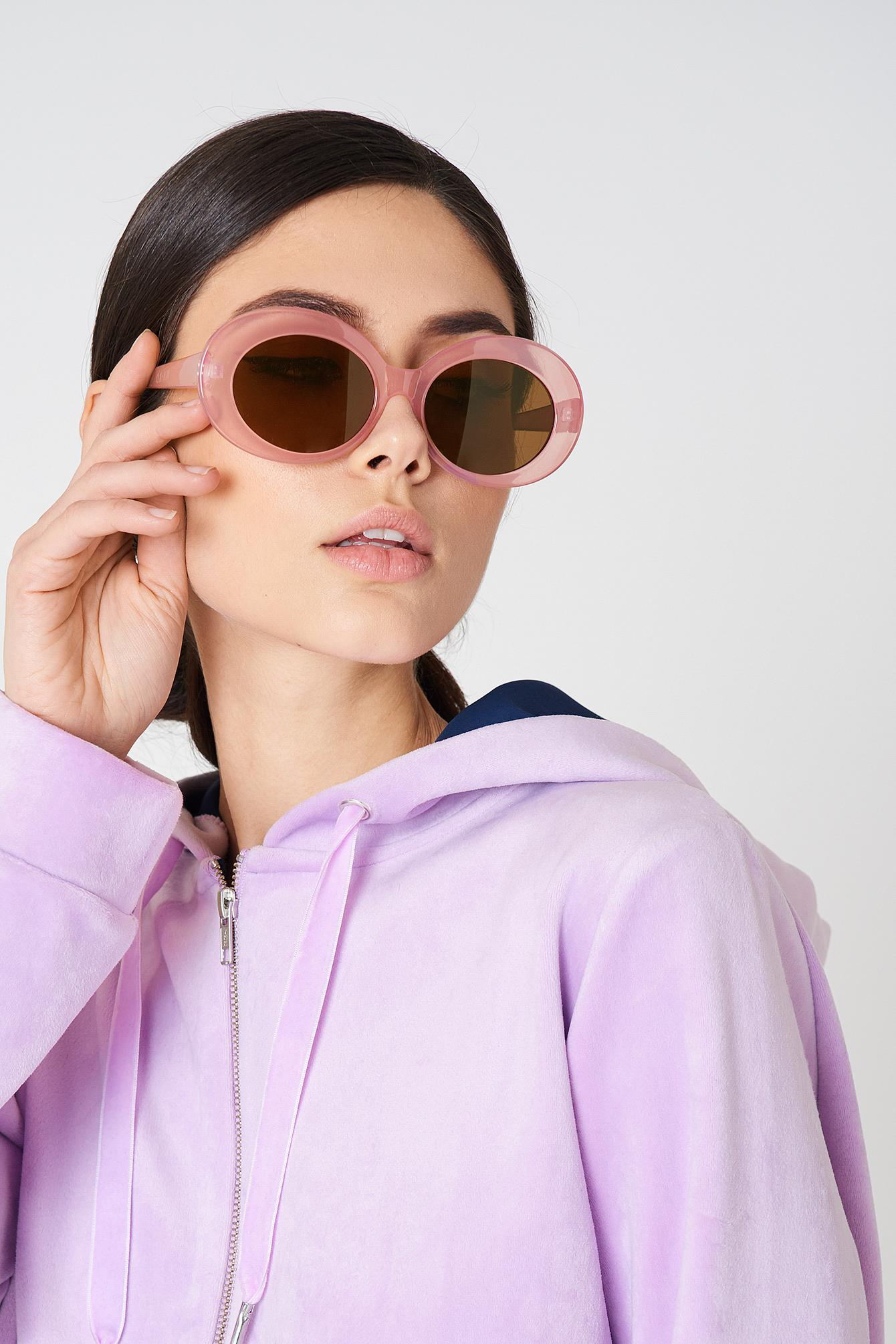 NA-KD Accessories Oval Sunglasses - Purple RZaKDgYd