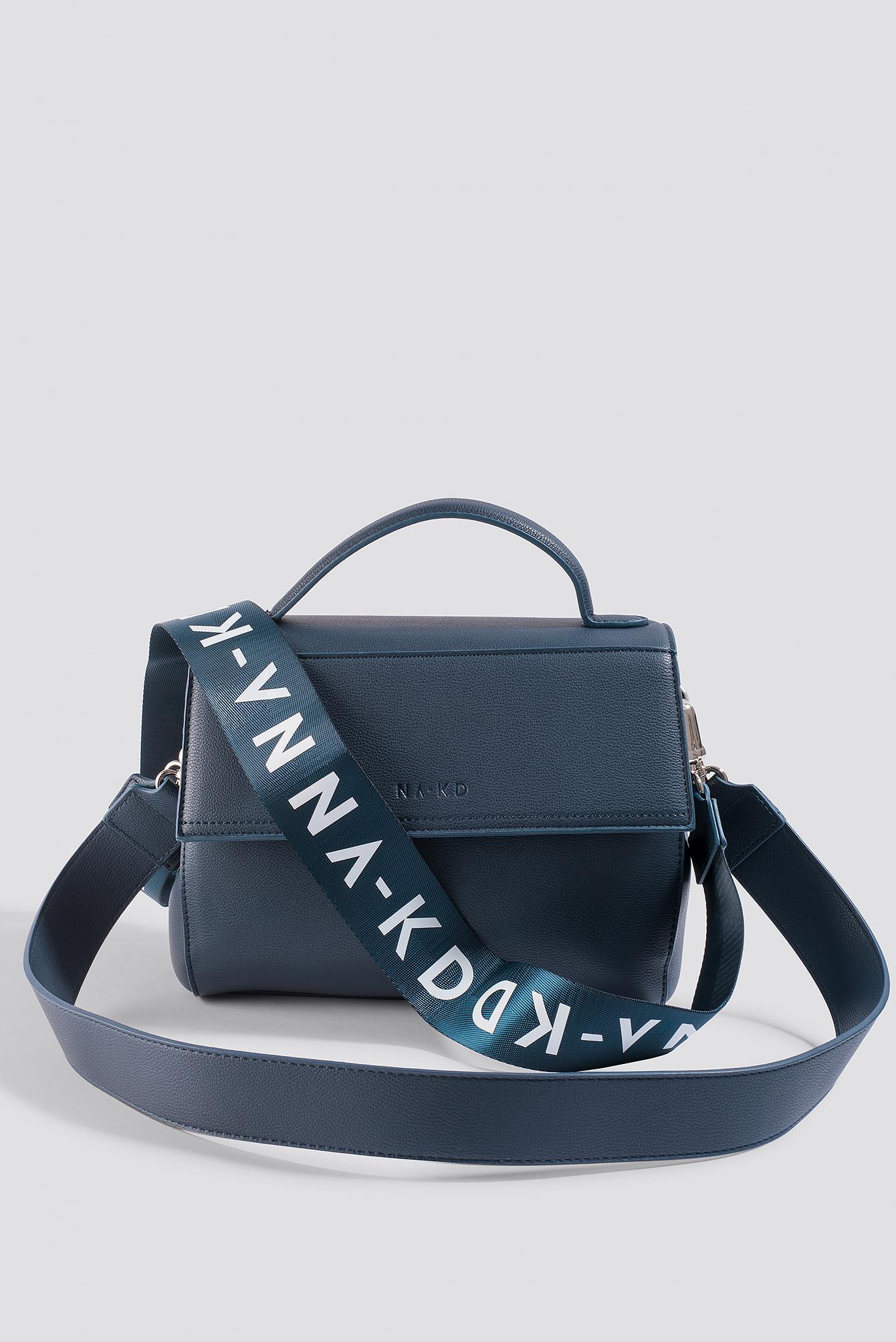 Lyst - NA-KD Handbag With Strap Navy in Blue 91f79cd11