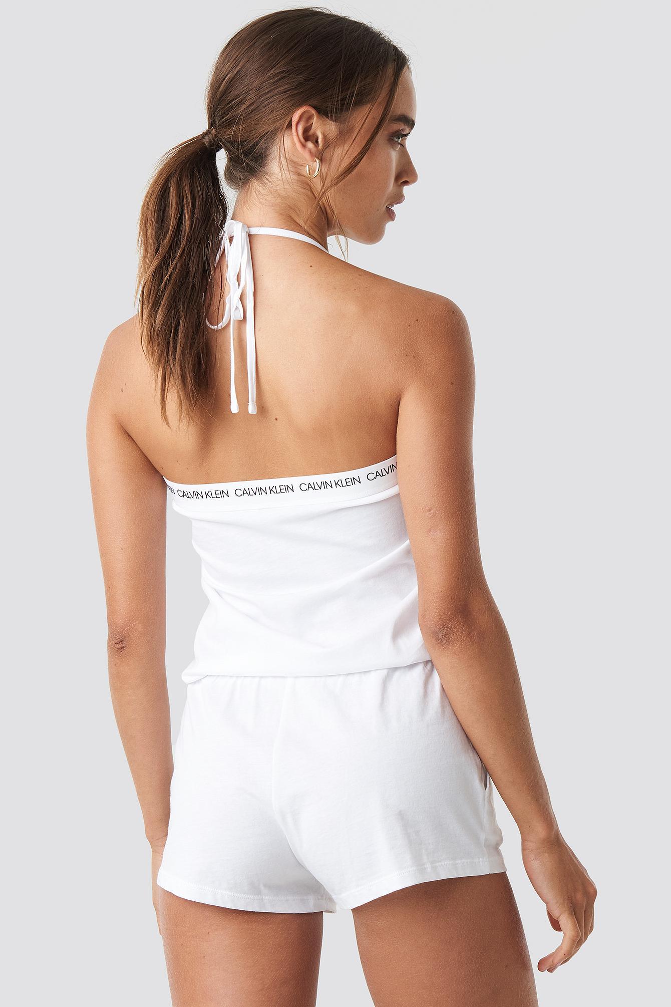 7050bf56318b Lyst - Calvin Klein Bandeau Romper Pvh White in White