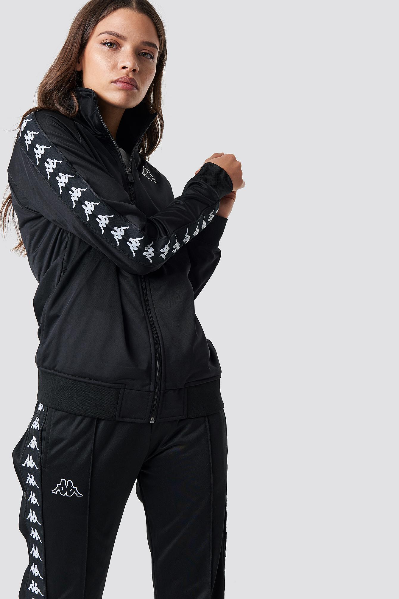 6688f808c27d Lyst - Kappa Anniston Track Jacket Black white in Black