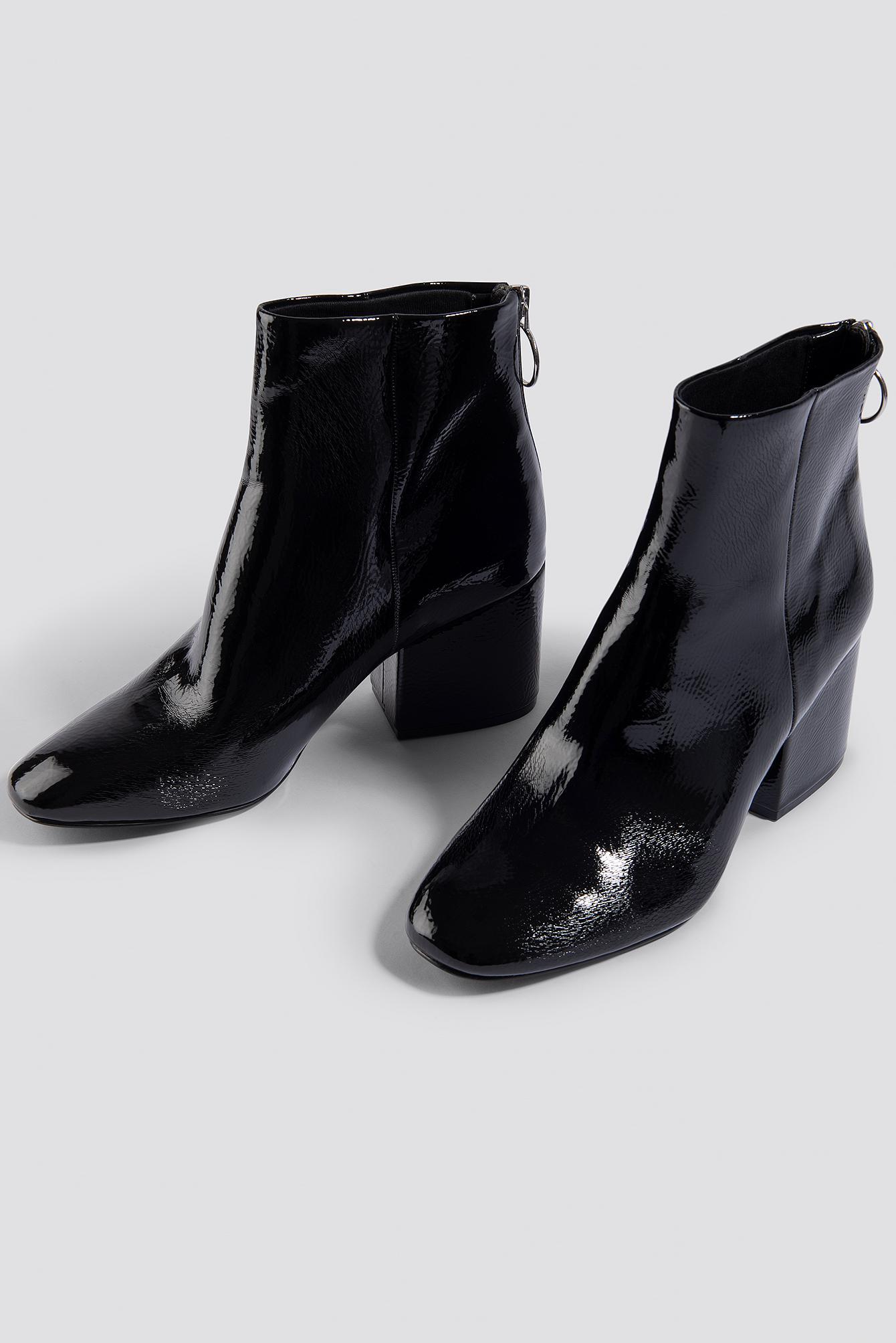 1b702d7bacd Steve Madden Break Ankle Boot Black Patent in Black - Lyst