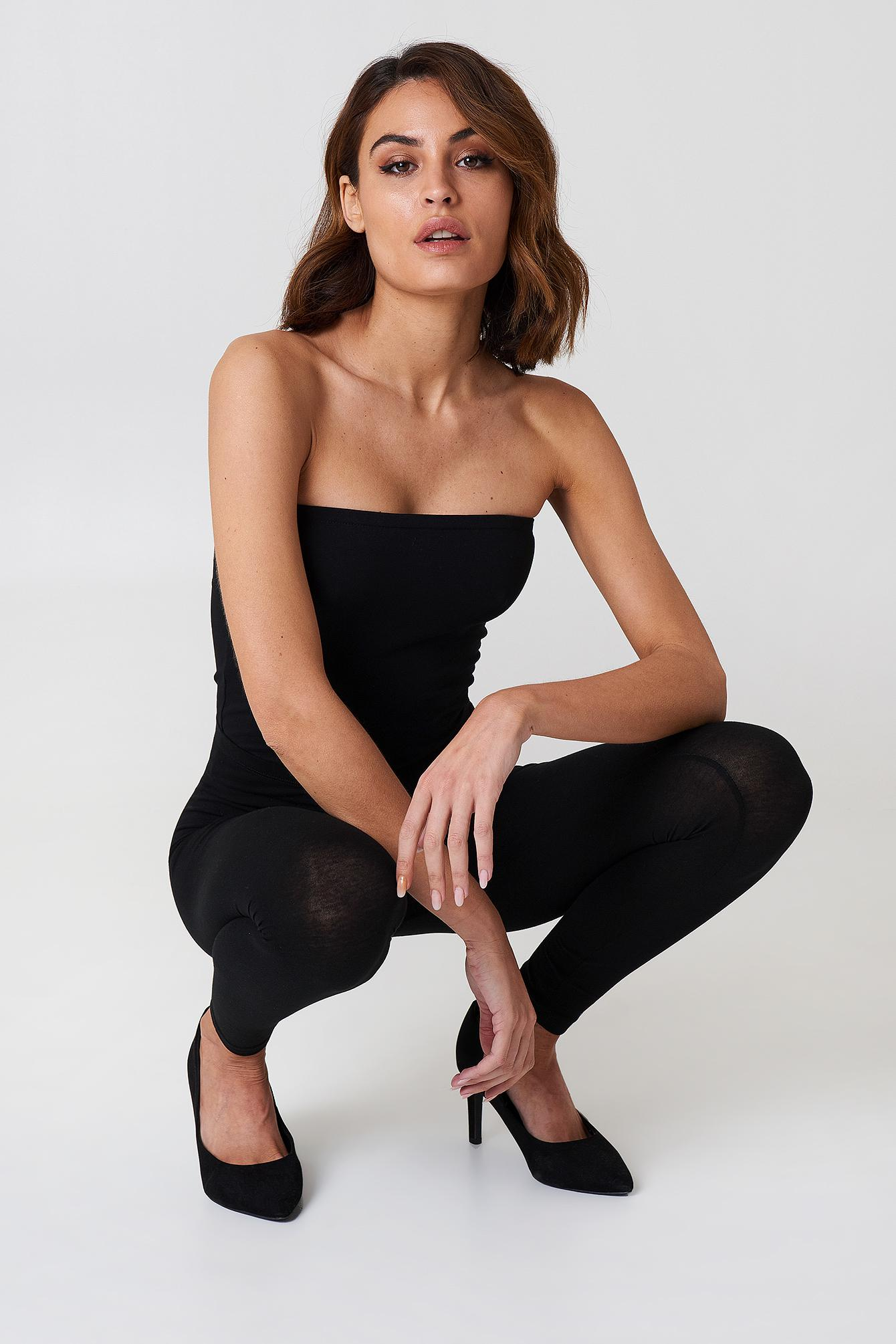 02f2889d63a561 NA-KD Basic Bandeau Top Black in Black - Save 25% - Lyst