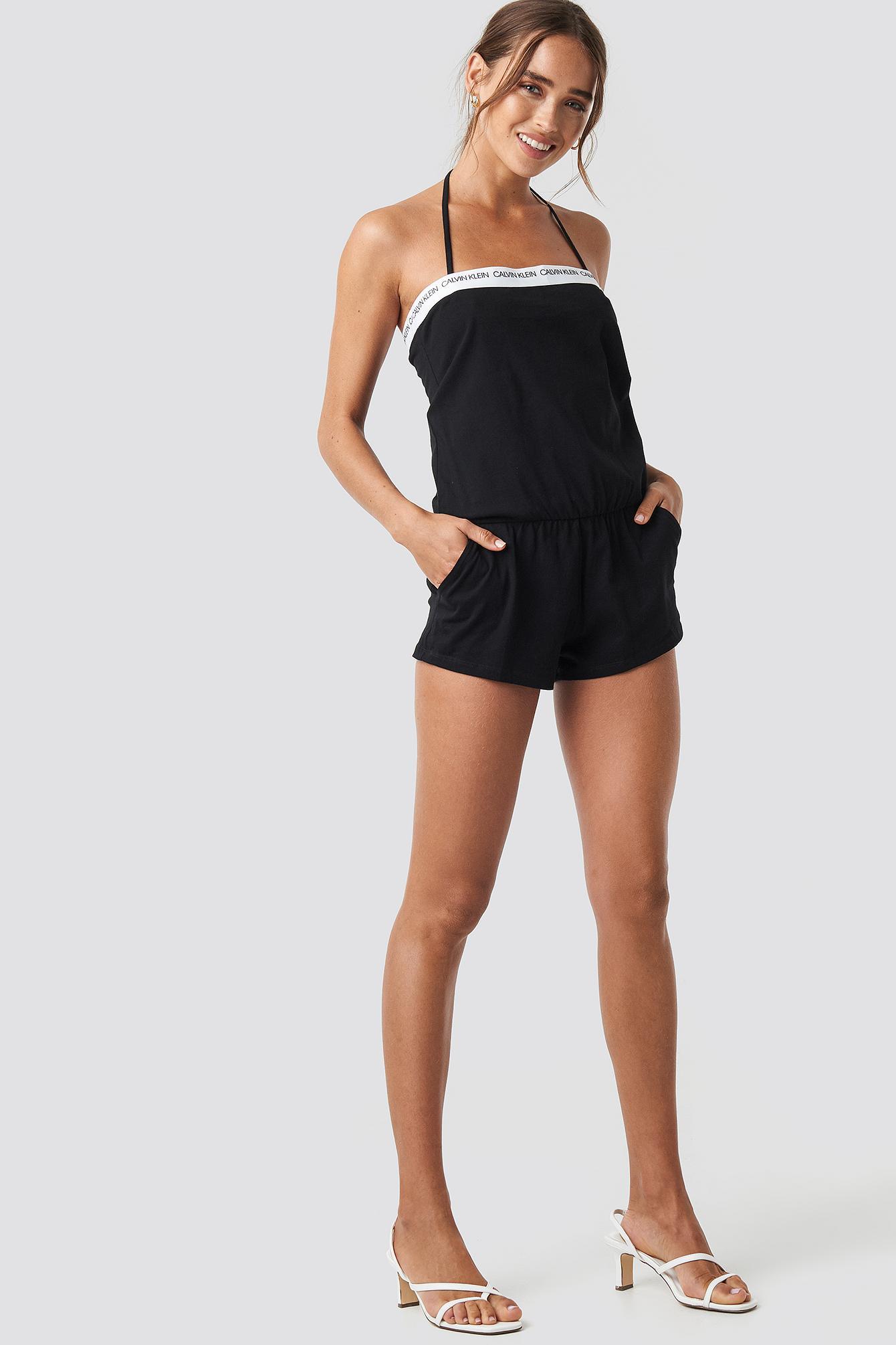 4dd92a22f772 Lyst - Calvin Klein Bandeau Romper Pvh Black in Black
