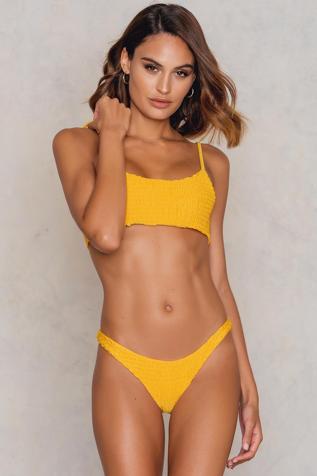 3219ef0edb8 Hot Anatomy Wrinkled Bikini Panty Yellow in Yellow - Lyst