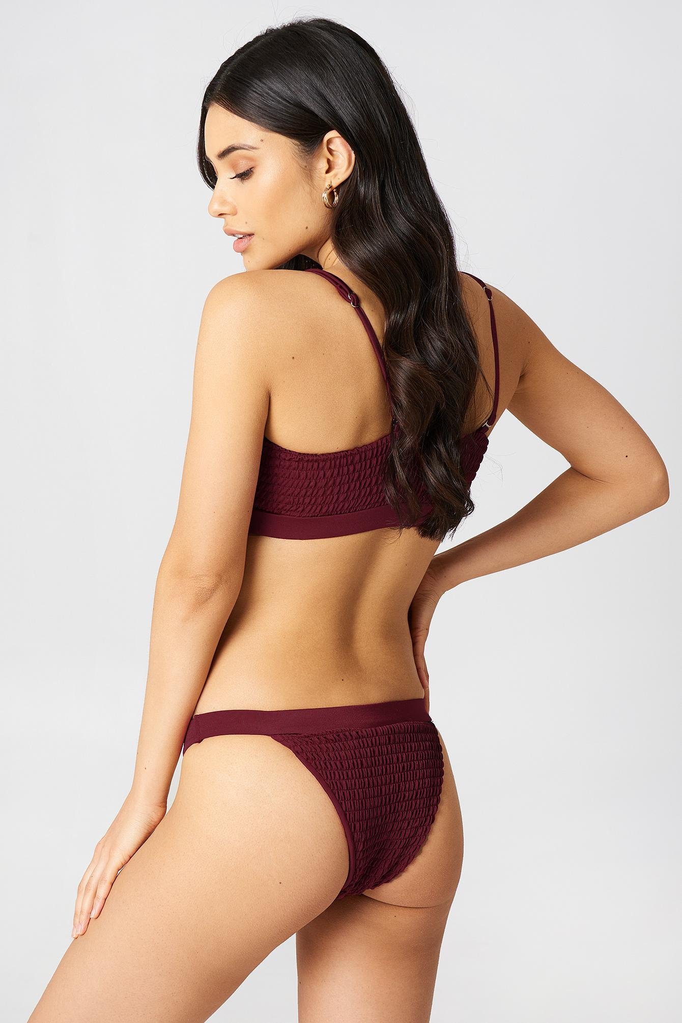 2d700cfbd6536 Hot Anatomy Sporty Wrinkled Bikini Panty in Red - Lyst