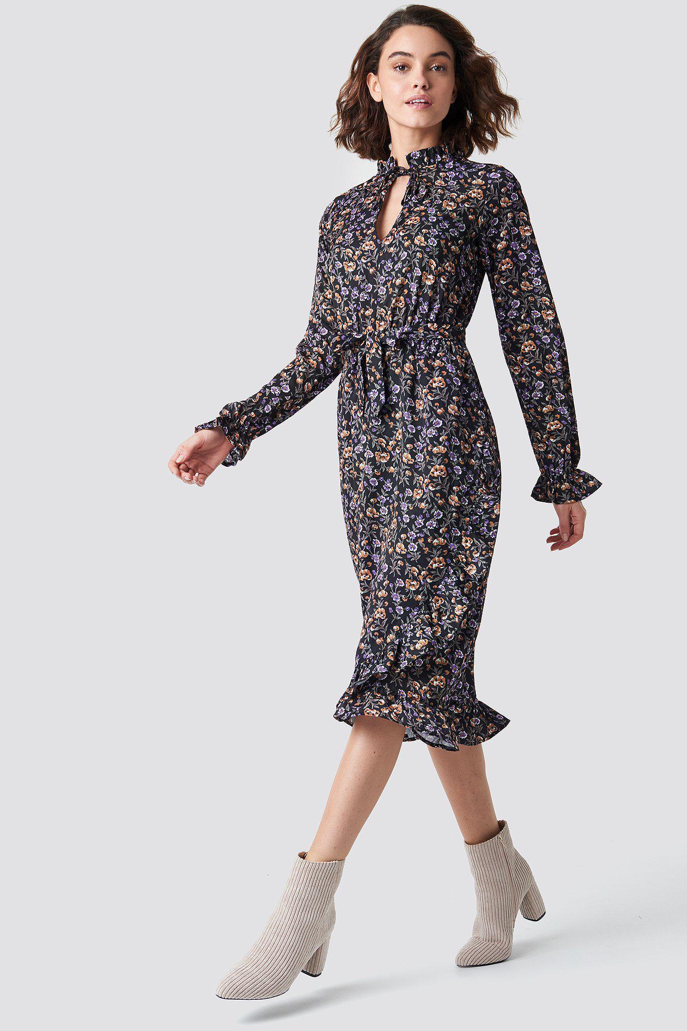 afaa9060b6 Rut&Circle. Women's Black Maxi Flower Dress Flower Print. $48 From NA-KD