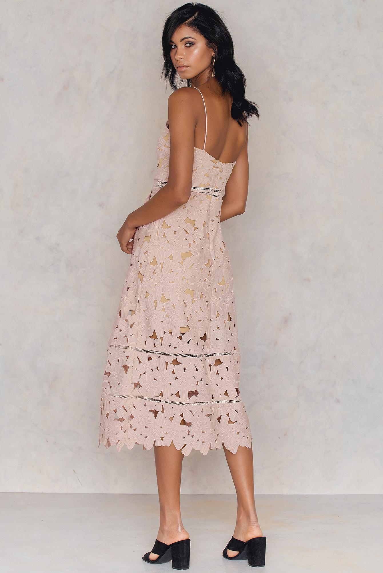 NA-KD - Lace Strap Back Dress | Dresses, Dress backs
