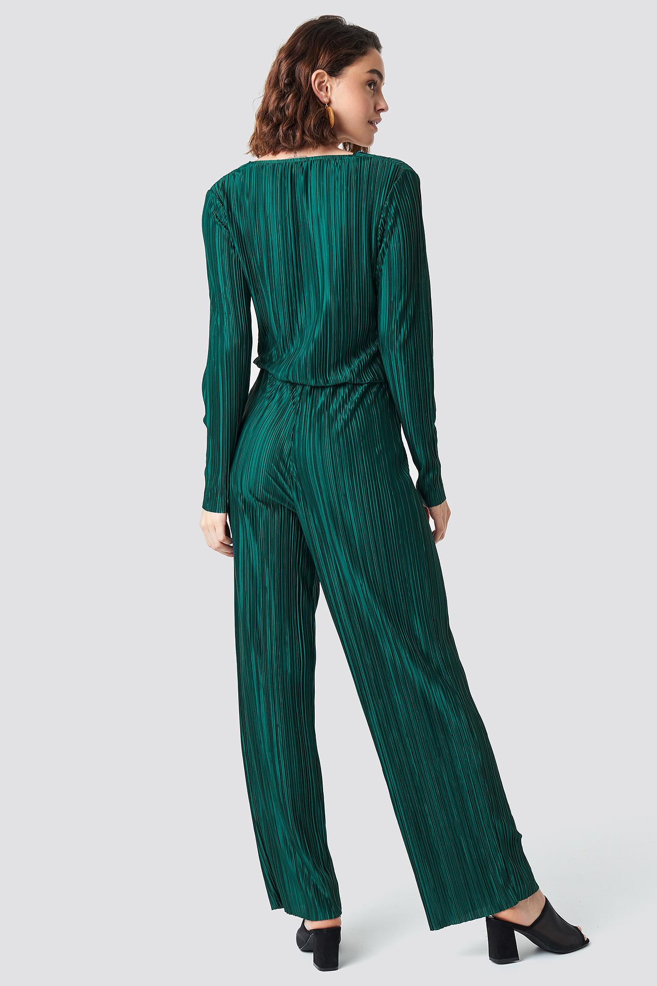 8aab0f84abce Lyst - Rut Circle Pleated Jumpsuit Dark Green in Green