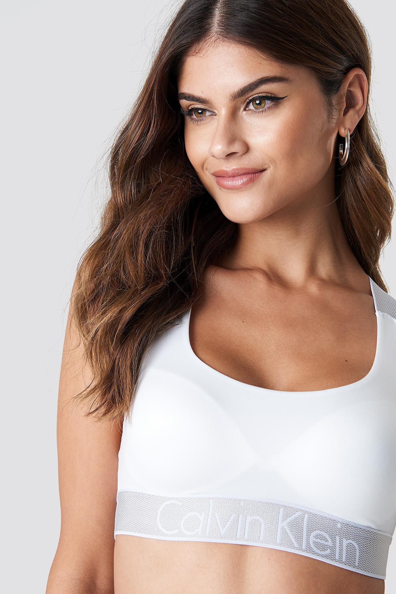 d7351dfc2ed Lyst - Calvin Klein Customized Stretch Bralette White in White