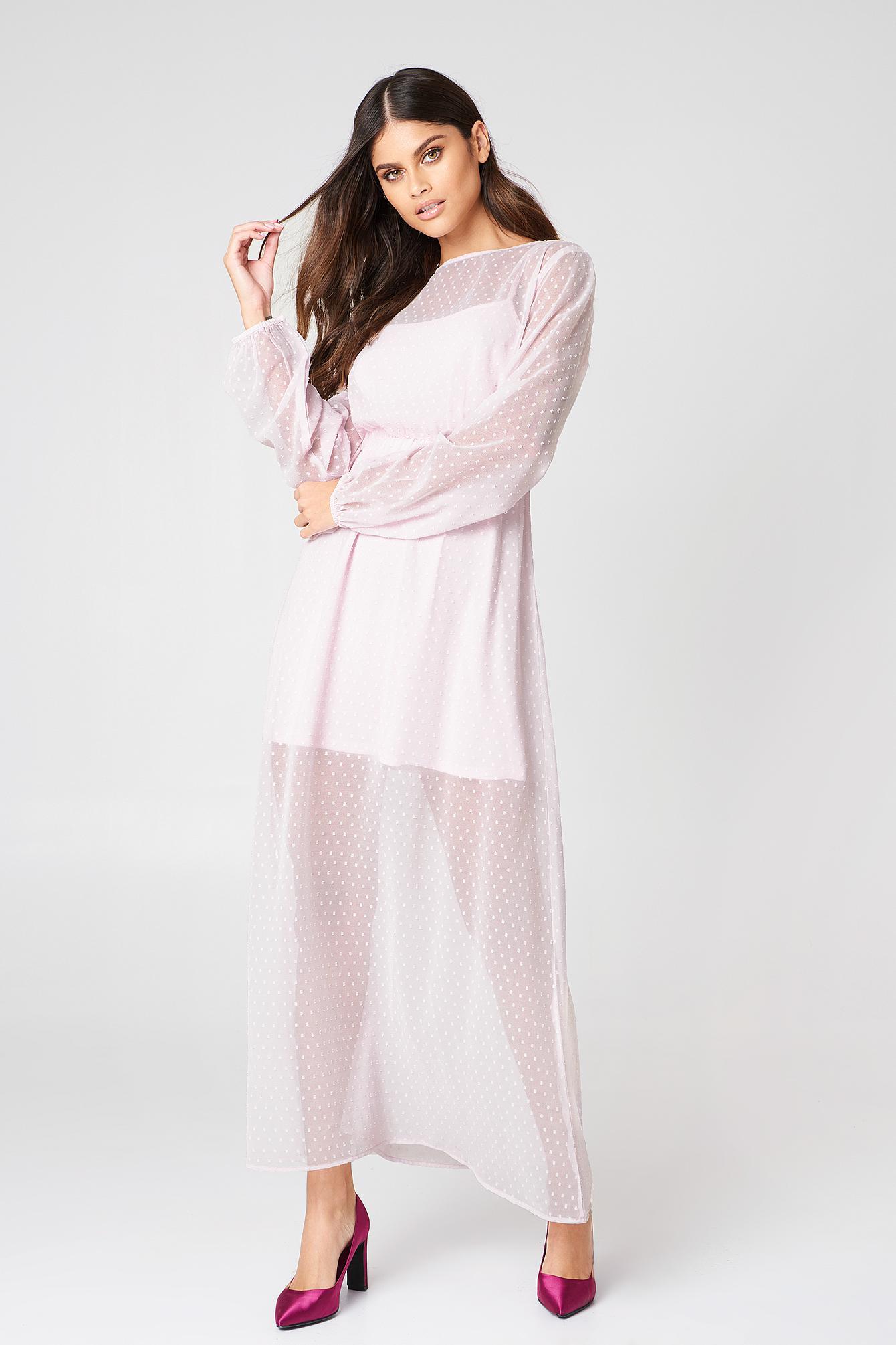 79dc9f7e248 Dusty Pink Chiffon Maxi Dress - Data Dynamic AG