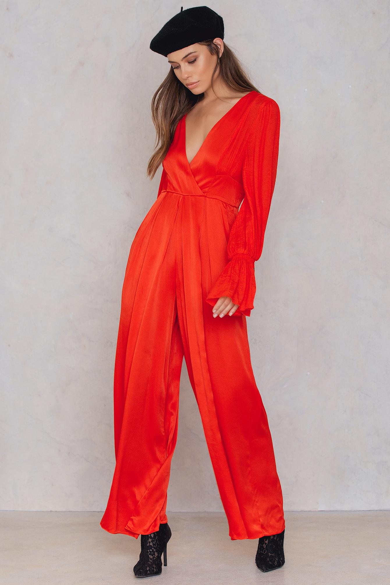 ff113108628 Lyst - Free People Not Your Baby Jumpsuit in Red