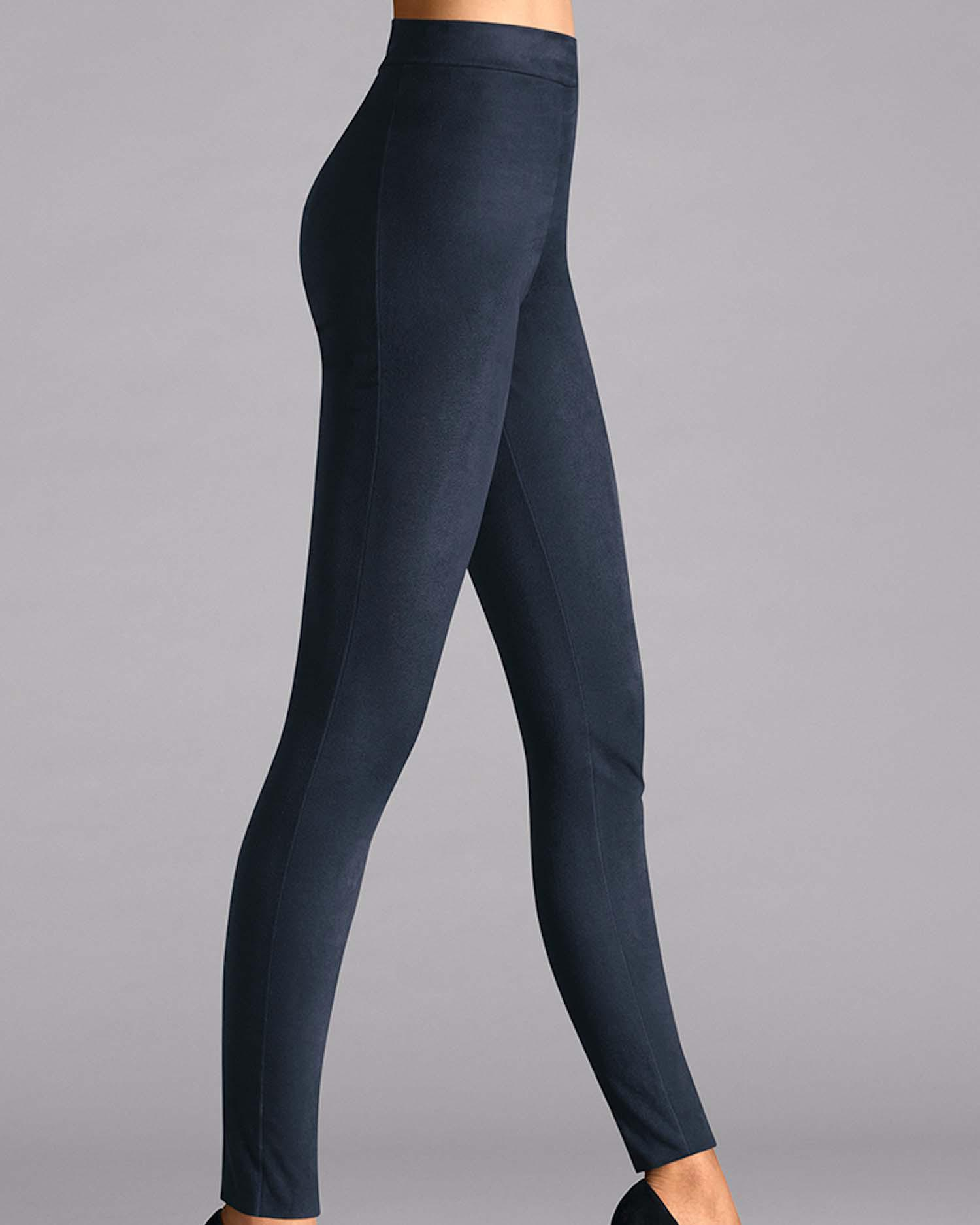 2481f1a626e Wolford Velour Leggings in Blue - Lyst